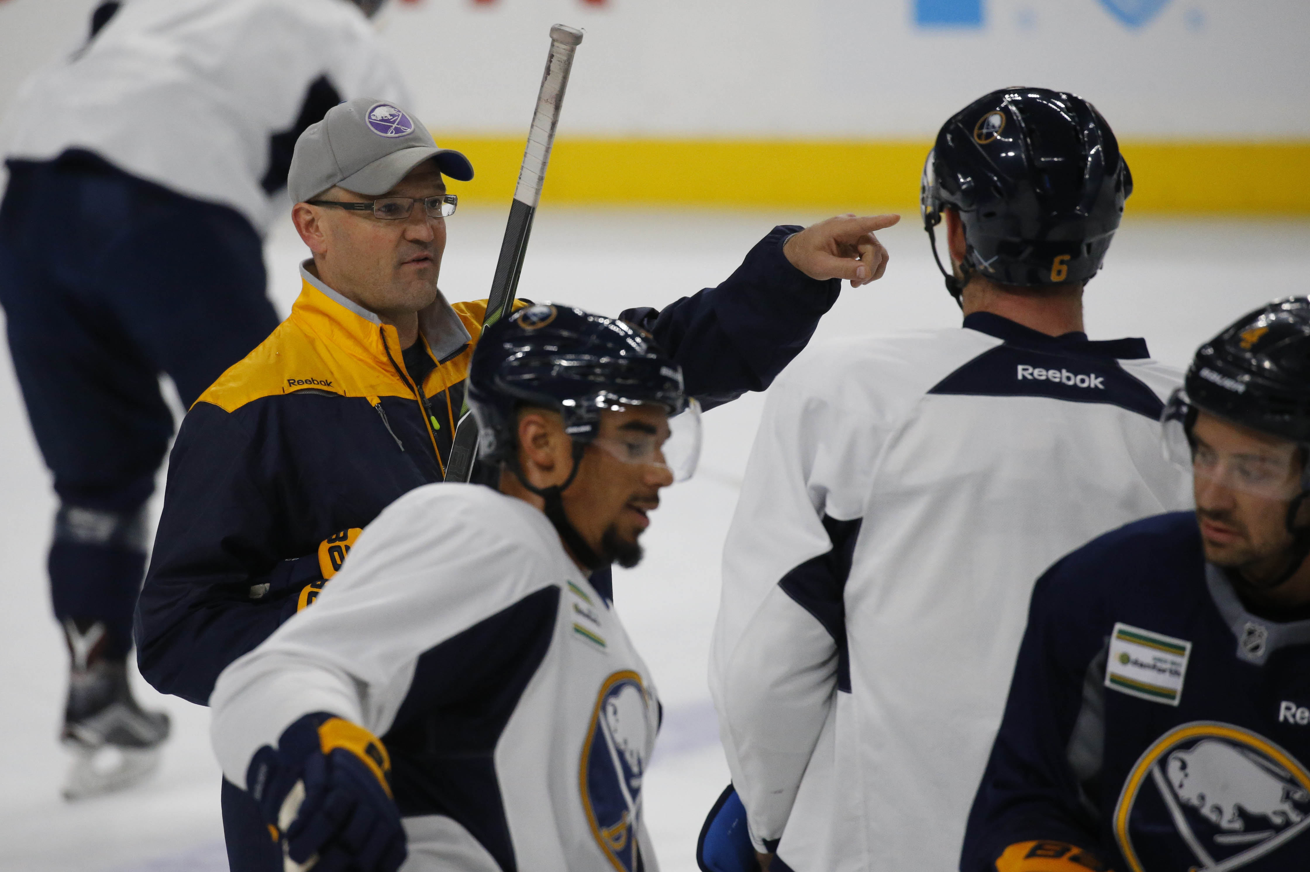 The Sabres' Dan Bylsma is passionate about coaching yet keeps an even keel. (Derek Gee/Buffalo News)