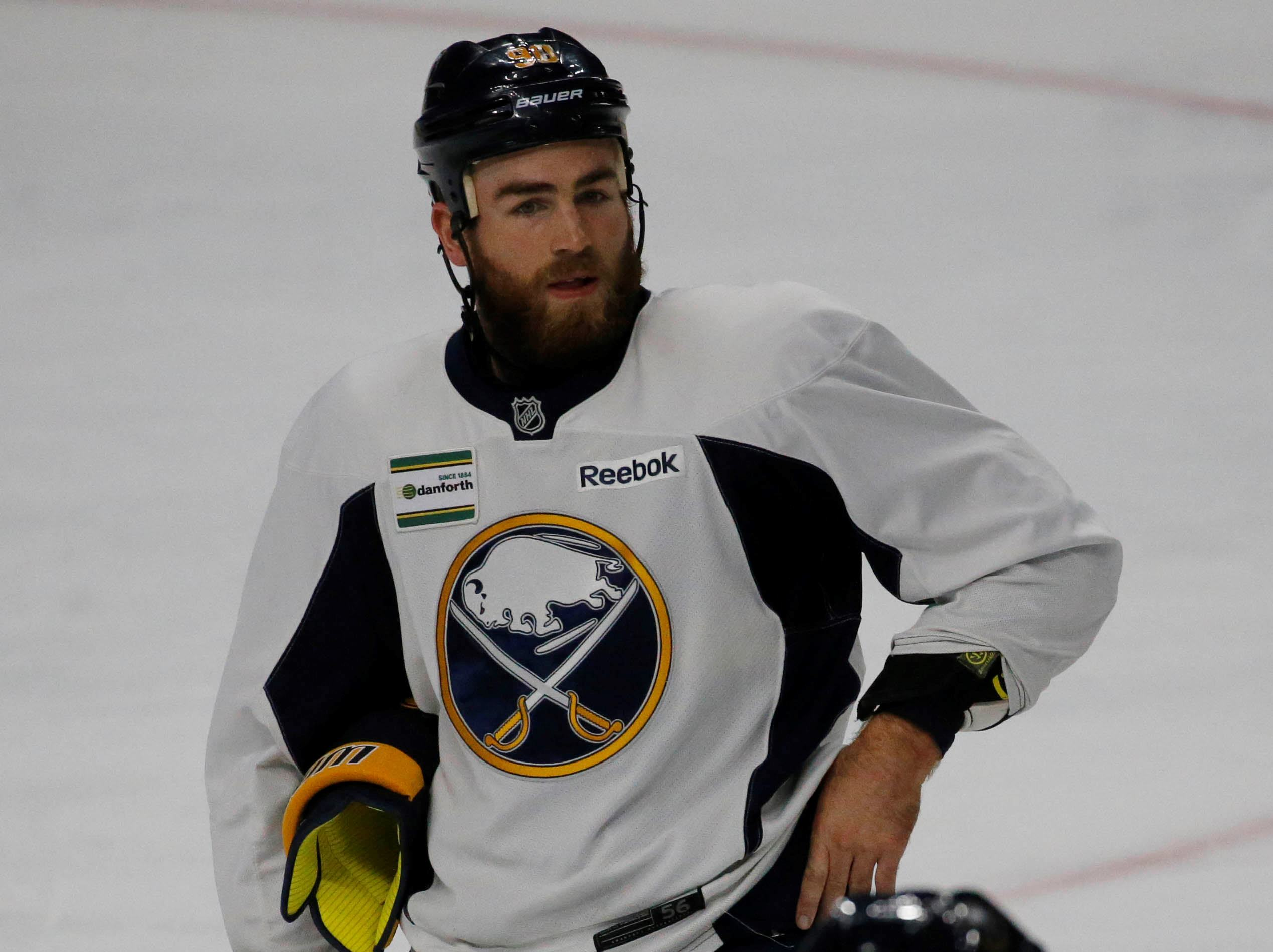 Buffalo Sabres forward Ryan O'Reilly skates during practice Thursday morning at Key Bank Center. (Derek Gee/Buffalo News)