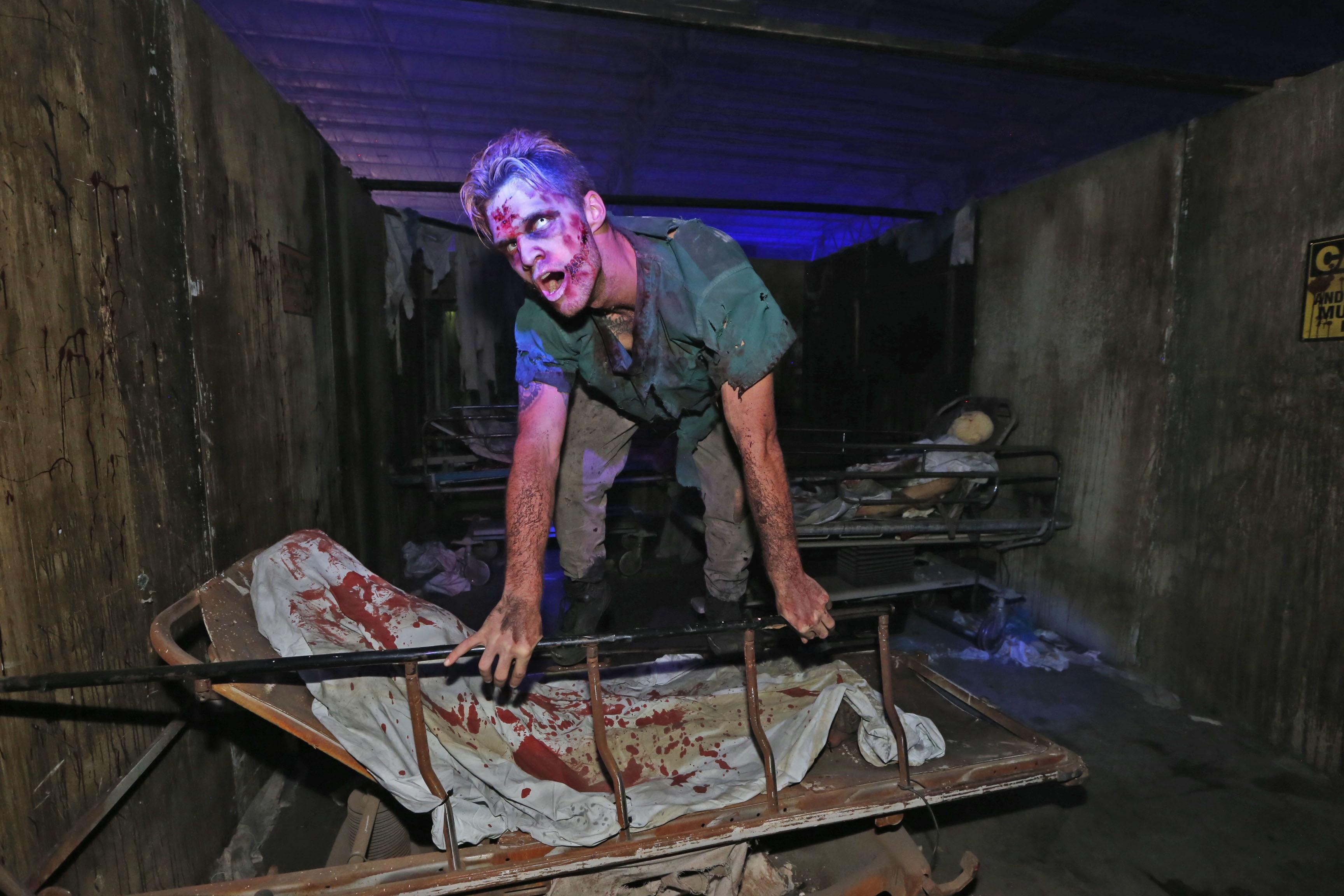 Zombies jump out at guests at Frightworld in Tonawanda. (Robert Kirkham/Buffalo News)