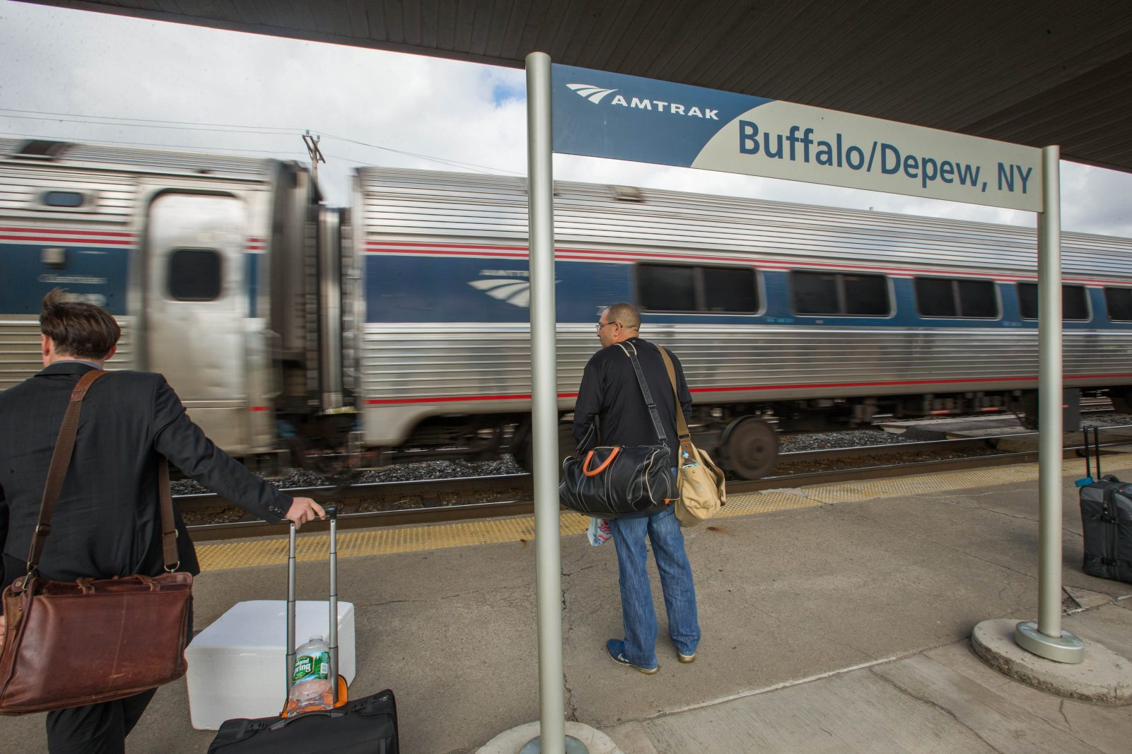 The Amtrak Station in Depew. (Derek Gee/Buffalo News)