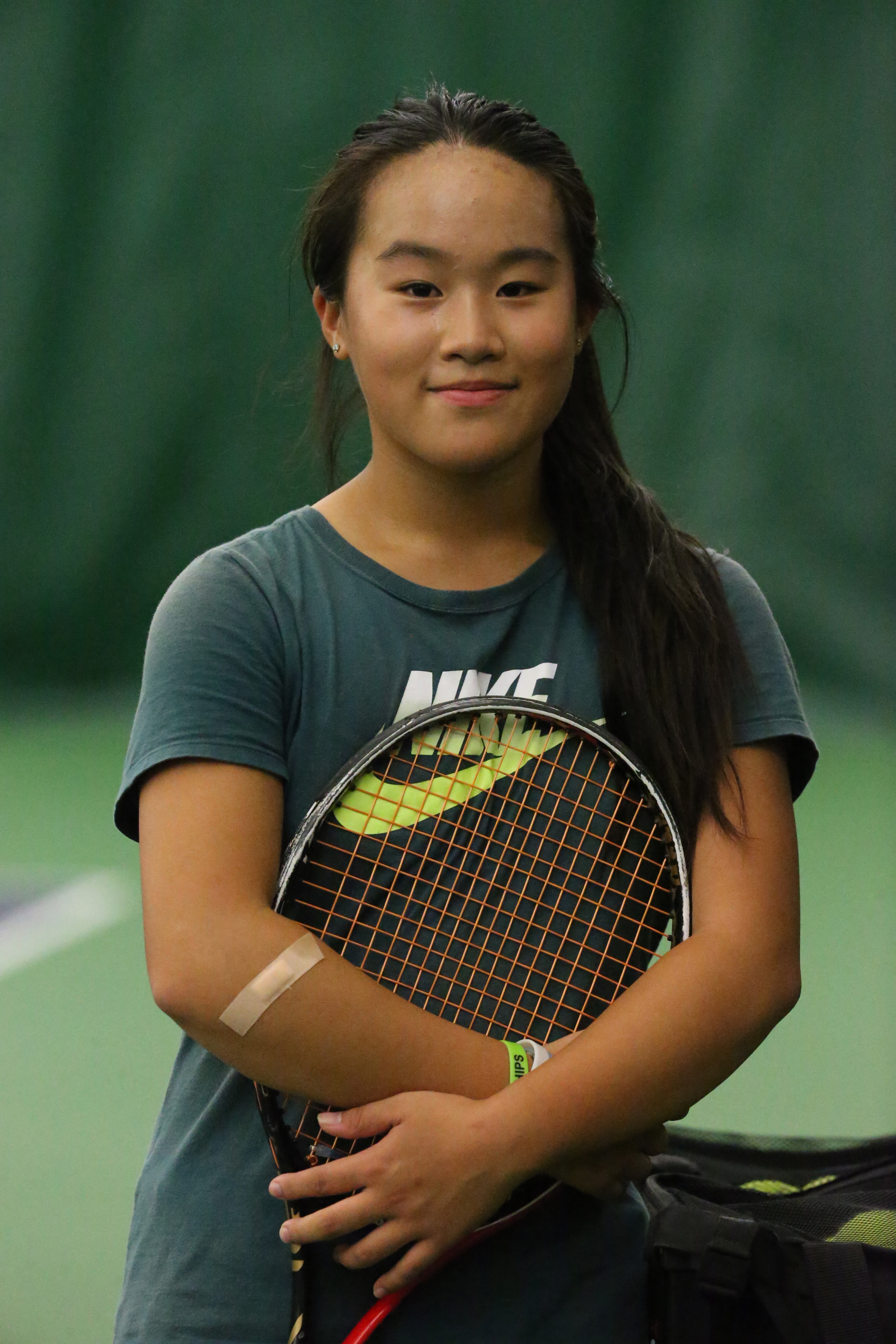 Williamsville North's Eileen Wang won the Section VI singles championship.  (James P. McCoy/Buffalo News)