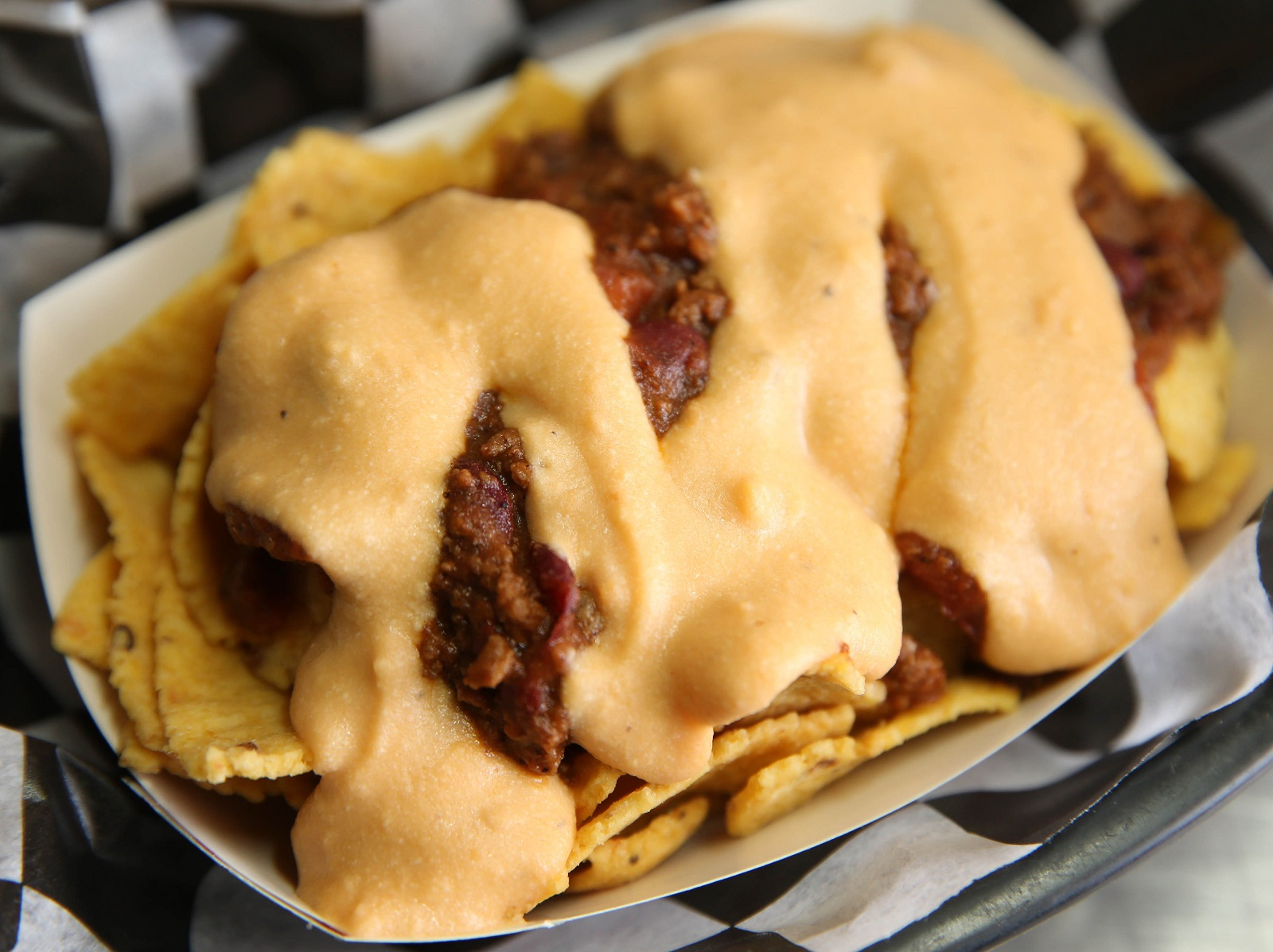 Chili nachos are a side from R&R BBQ. (Sharon Cantillon/Buffalo News)