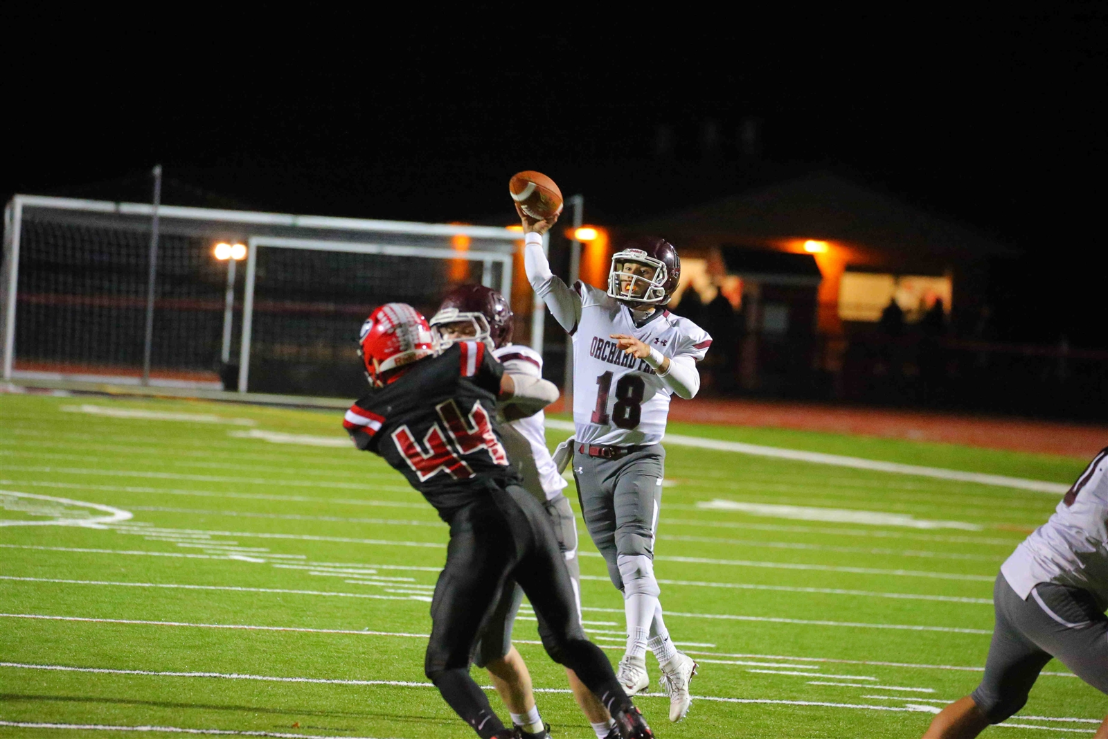 With Orchard Park's semifinal win at Clarence, Dillon Janca and the Quakers set up a rematch with Lancaster for the Class AA title next week at New Era Field. (John Hickey/Buffalo News)
