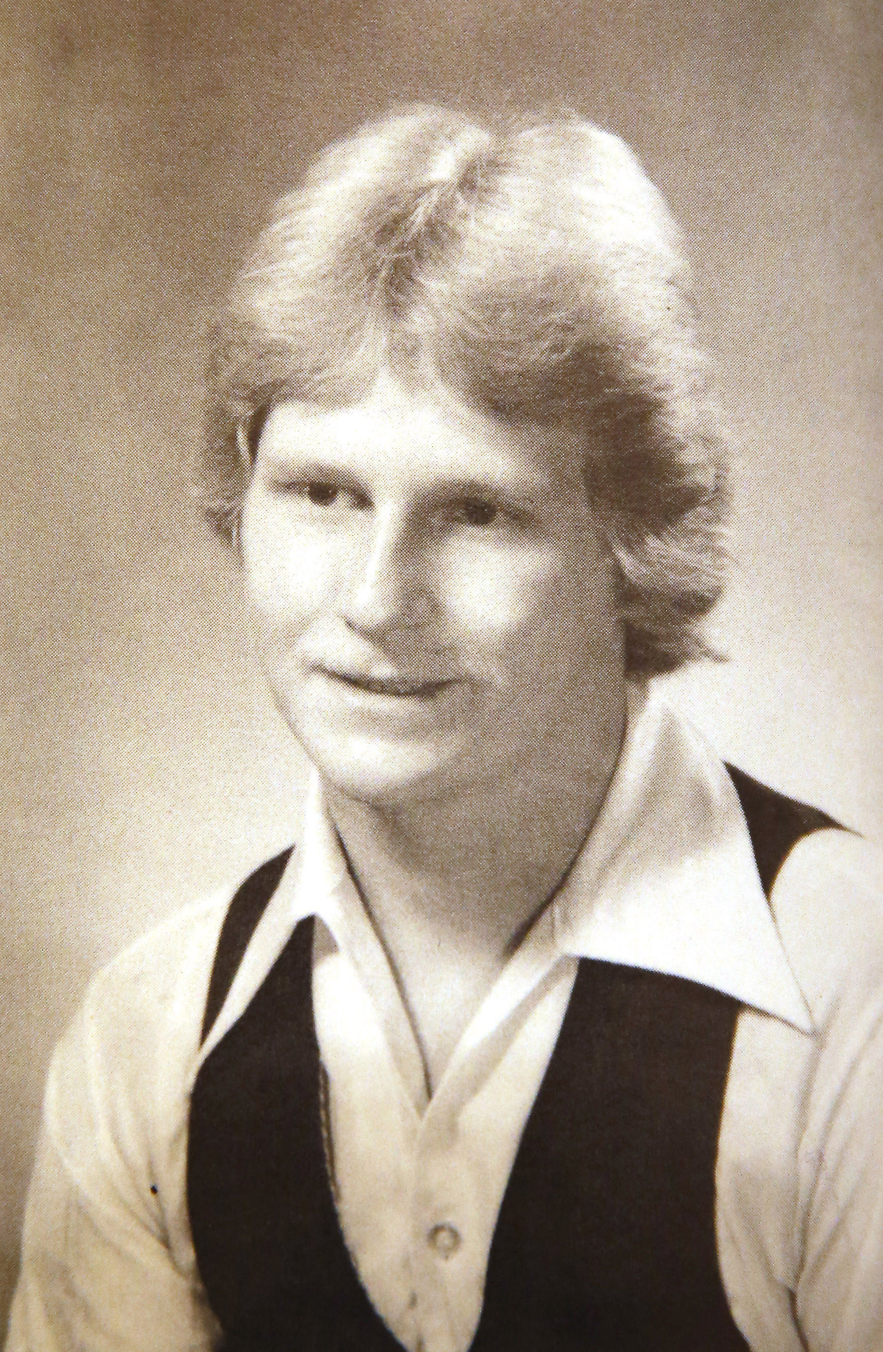 A photo of James Adamski from the 1983 Depew High School yearbook. (Mark Mulville/The Buffalo News)