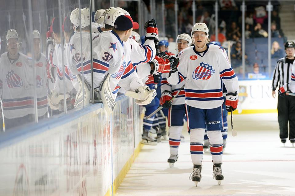 Alexander Nylander scored his first prof goal with the Amerks. (Photo Rochester Americans)