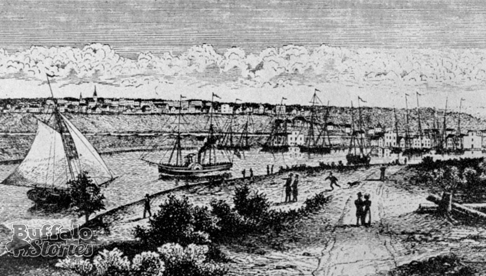 The Buffalo Harbor in 1825.