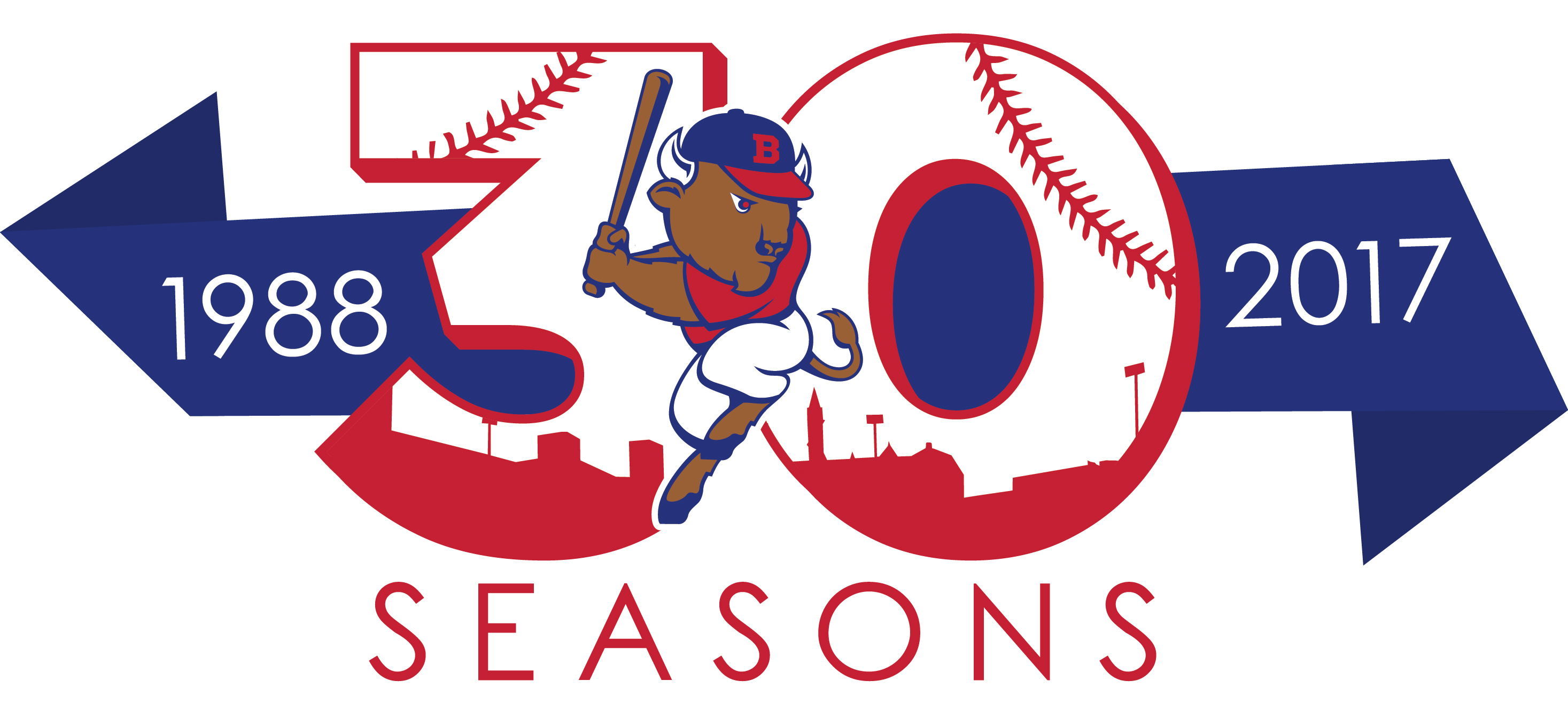 The Bisons' anniversary logo will be used throughout the 2017 season, their 30th in Coca-Cola Field.