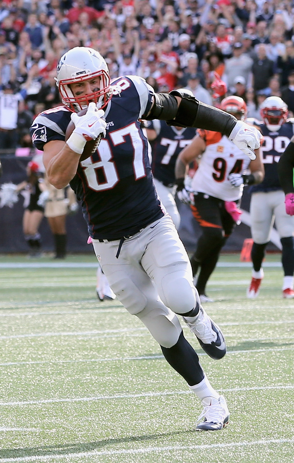Is Rob Gronkowski on track to becoming the greatest tight end of them all? (Getty Images)
