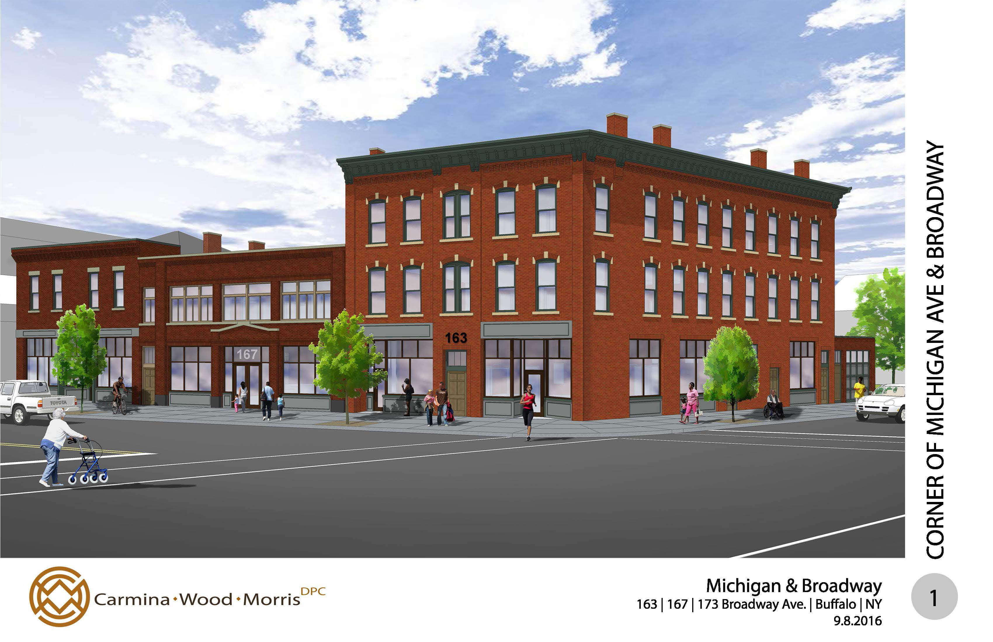 Architects released this rendering of the development proposed for the Dellenbaugh block.