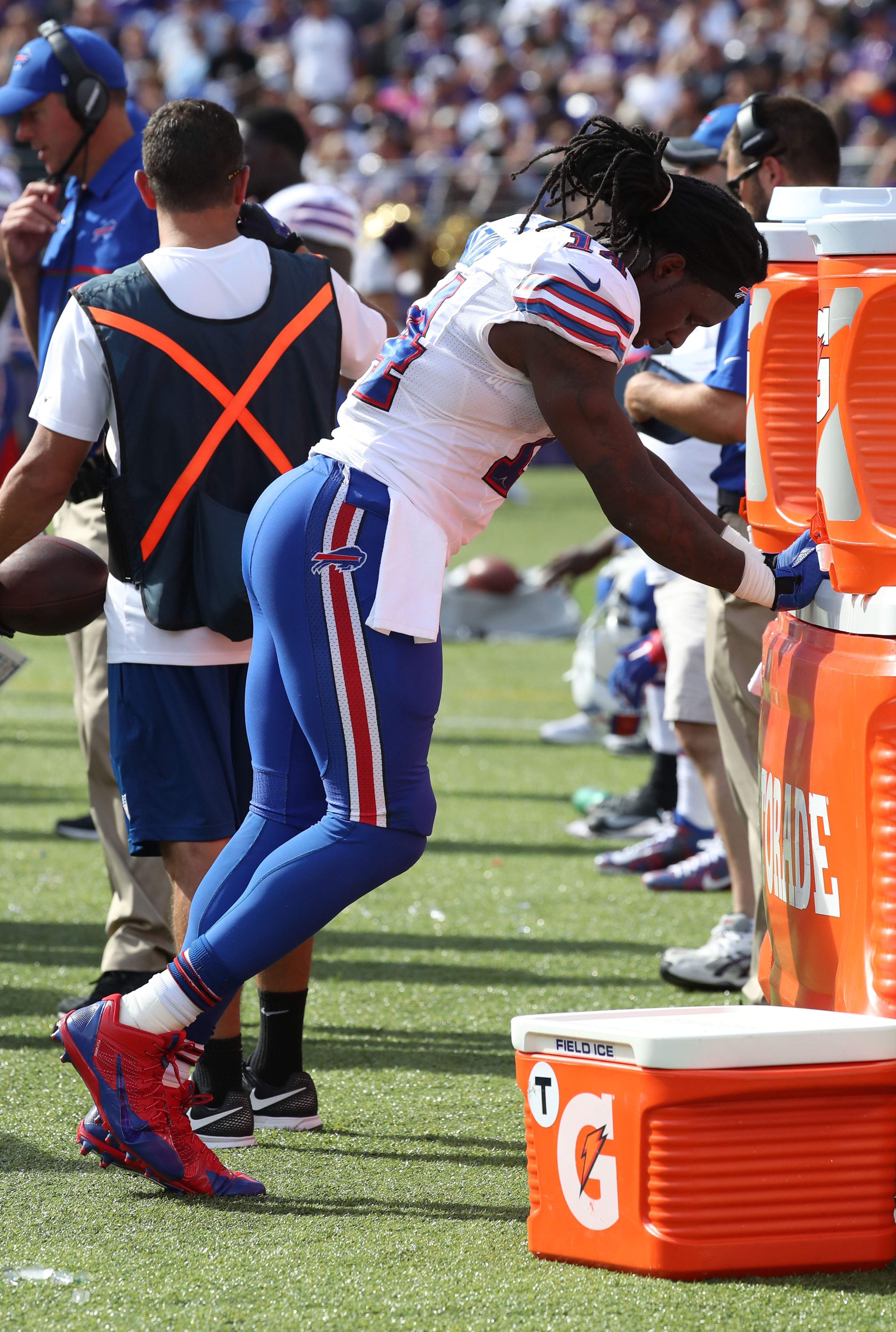 Sammy Watkins continues to be bothered by pain in his foot after having offseason surgery to repair a stress fracture.