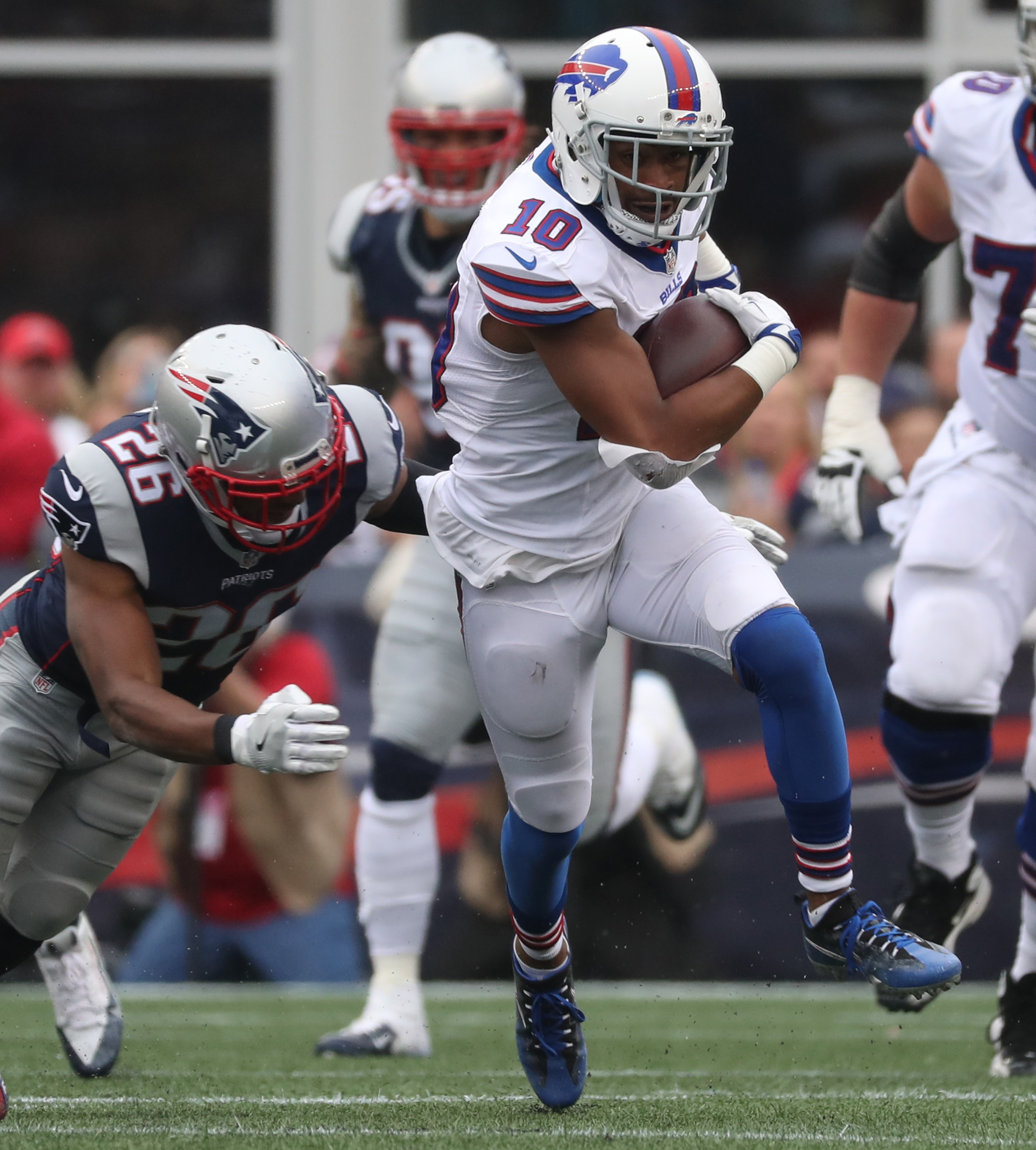 Buffalo Bills wide receiver Robert Woods (10) will return to the Coliseum on Sunday for the first time since his days at Southern California. (James P. McCoy/ Buffalo News)