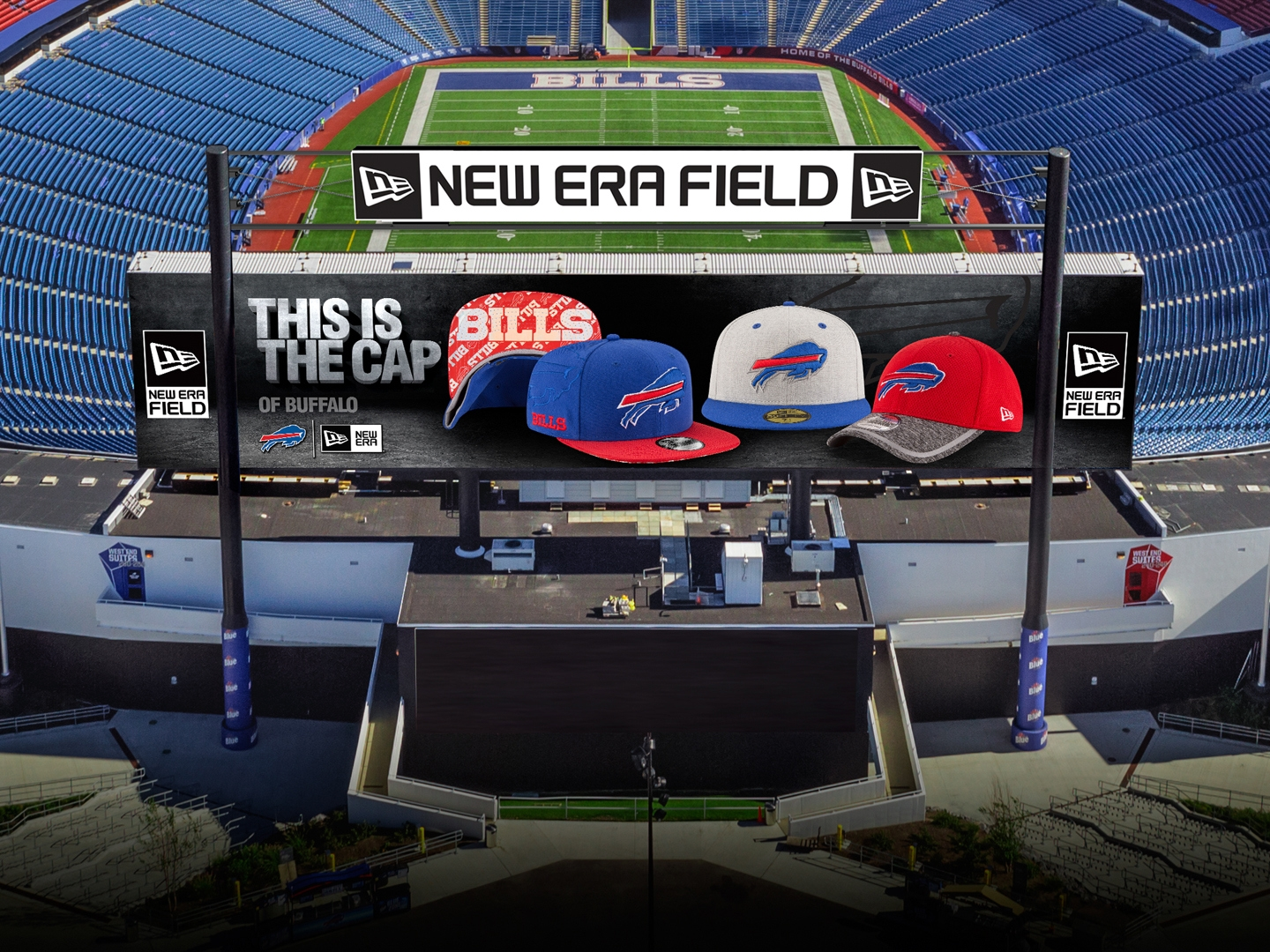 new era field for next West end zone