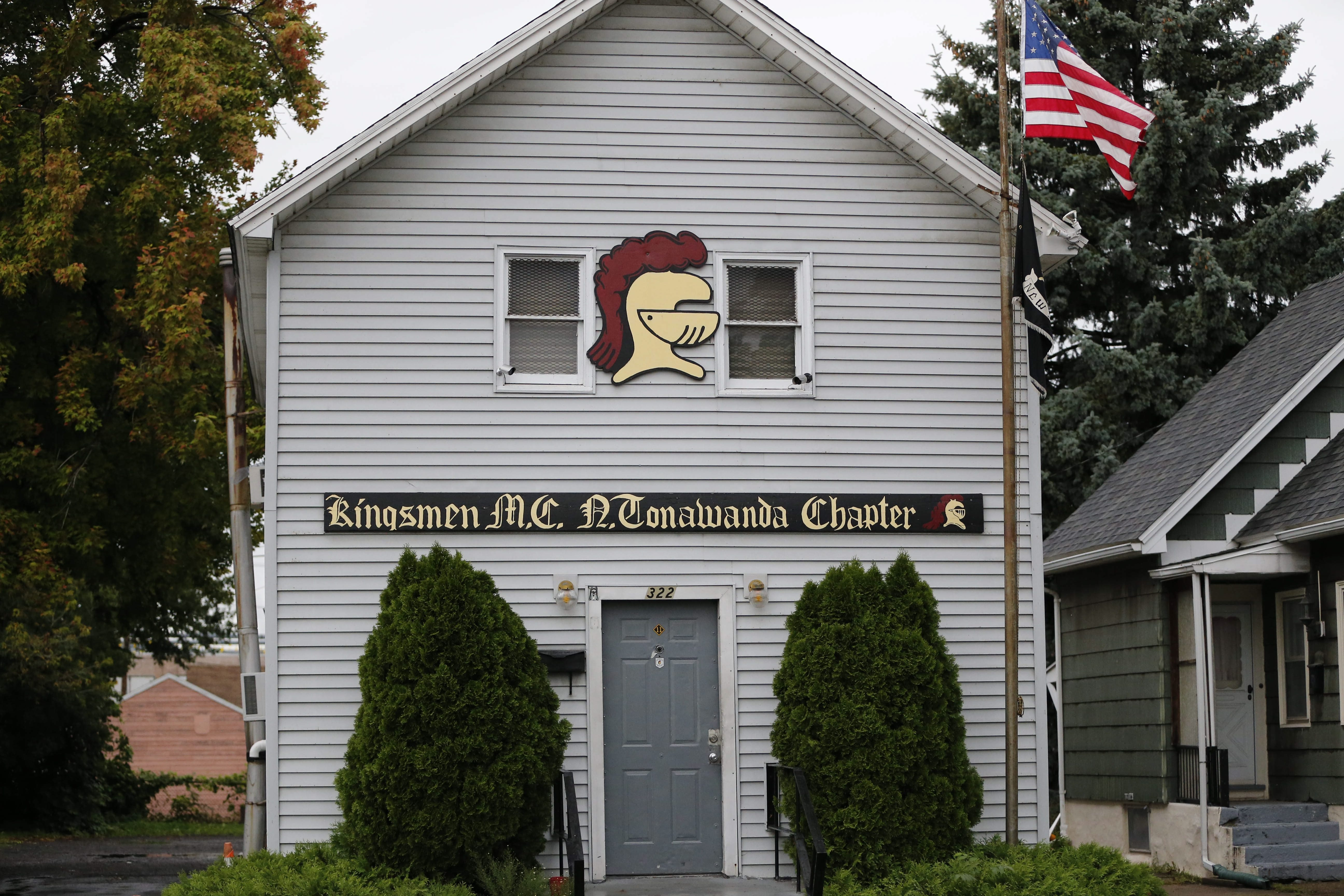 The Kingsmen Motorcycle Club on Oliver Street in North Tonawanda, where two members were killed in a shooting early Sept. 6, 2014.  (Derek Gee/Buffalo News)