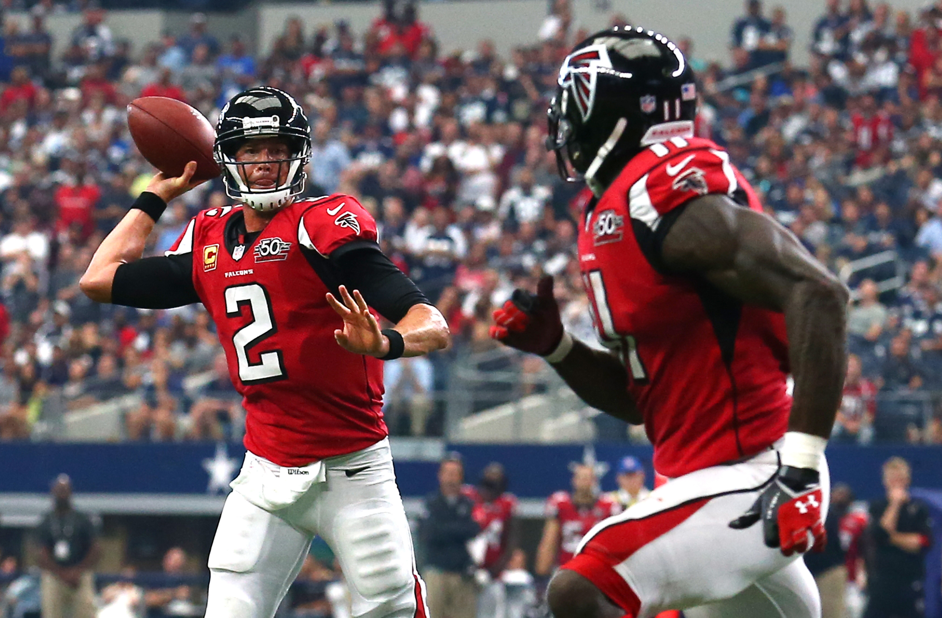 One of the keys in winning DFS fantasy football tournaments is stacking quarterbacks and their top targets -- like Matt Ryan and Julio Jones showed in Week Four.