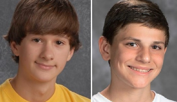 Lancaster park is a memorial to Bryce Buchholz, left, killed by a hit-and-run drunk driver in 2012, and to James Metz, who was killed in a midair collision of two small planes in 2014.