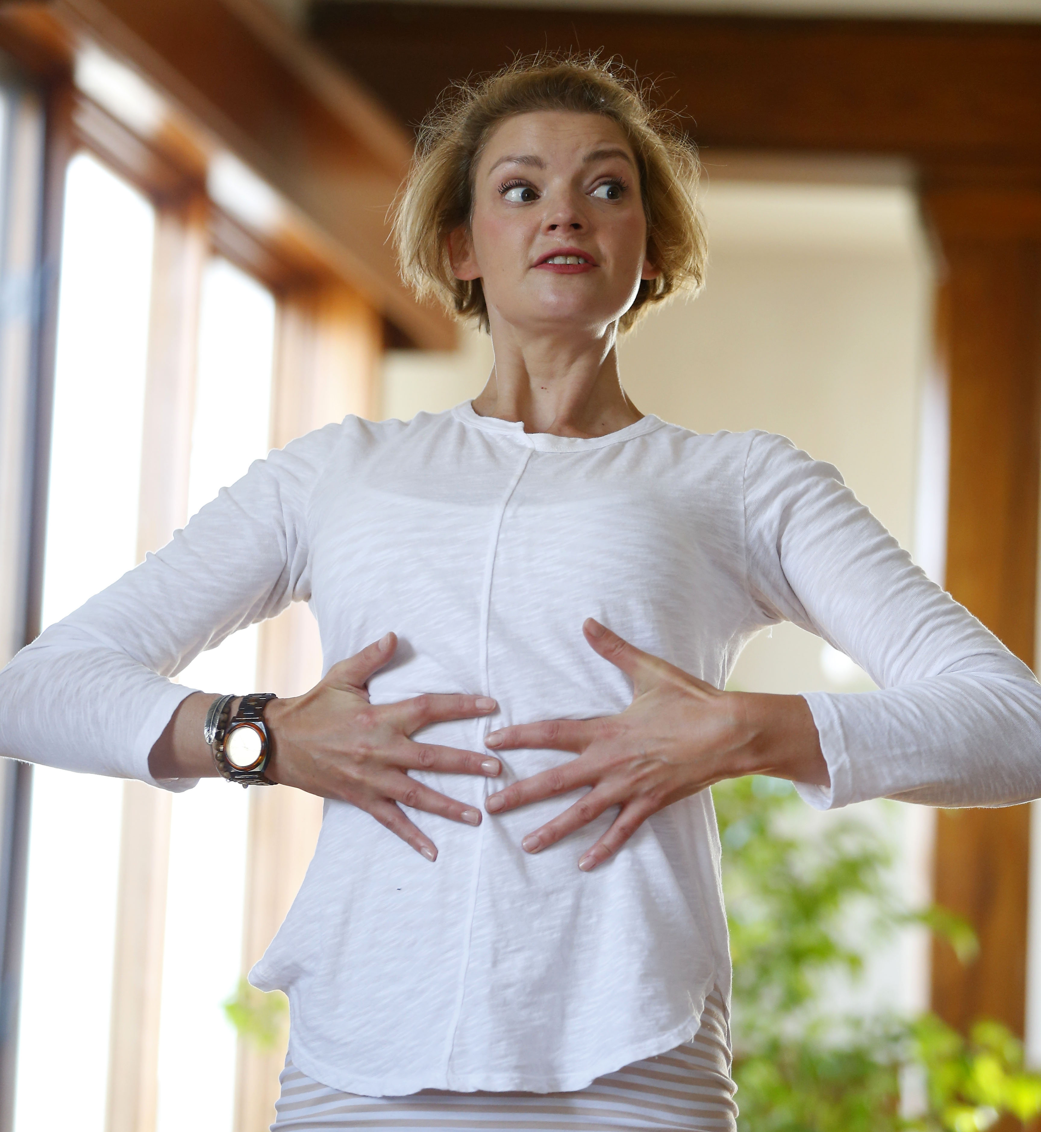 """""""Nutrition, improved sleep and exercise are important for anybody but especially for cancer survivors because they create improvement and a sense of control over your life."""" – Sara Szeglowski, Shine Yoga instructor"""