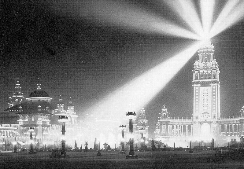 """The 1901 Pan-American Exposition in Buffalo provided dazzling displays of electricity that were powered by Niagara Falls. The multicolored scheme gave the fair its """"Rainbow City"""" moniker."""
