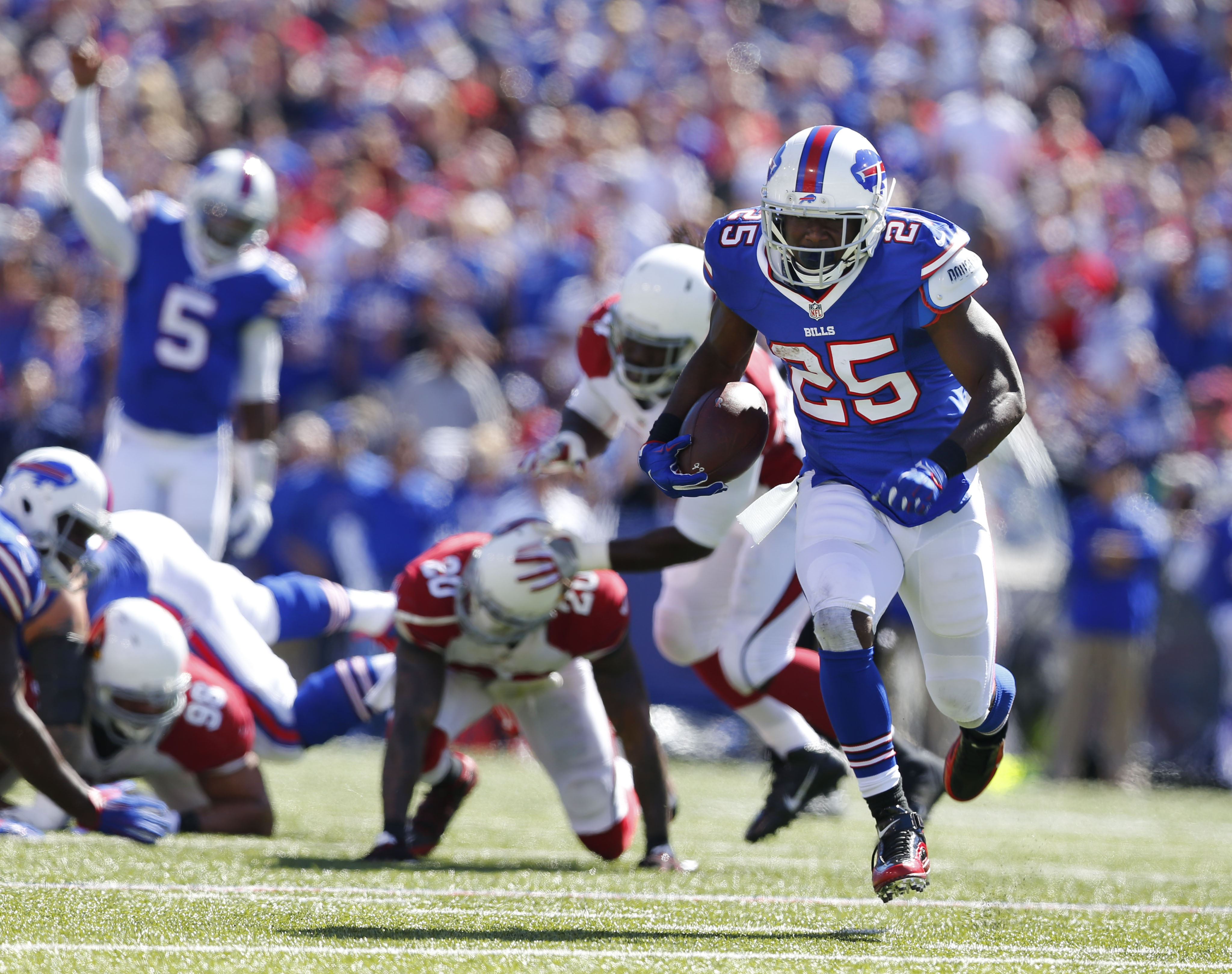 LeSean McCoy said on SportsCenter that he'll play on Sunday despite hurting his hand on Friday.
