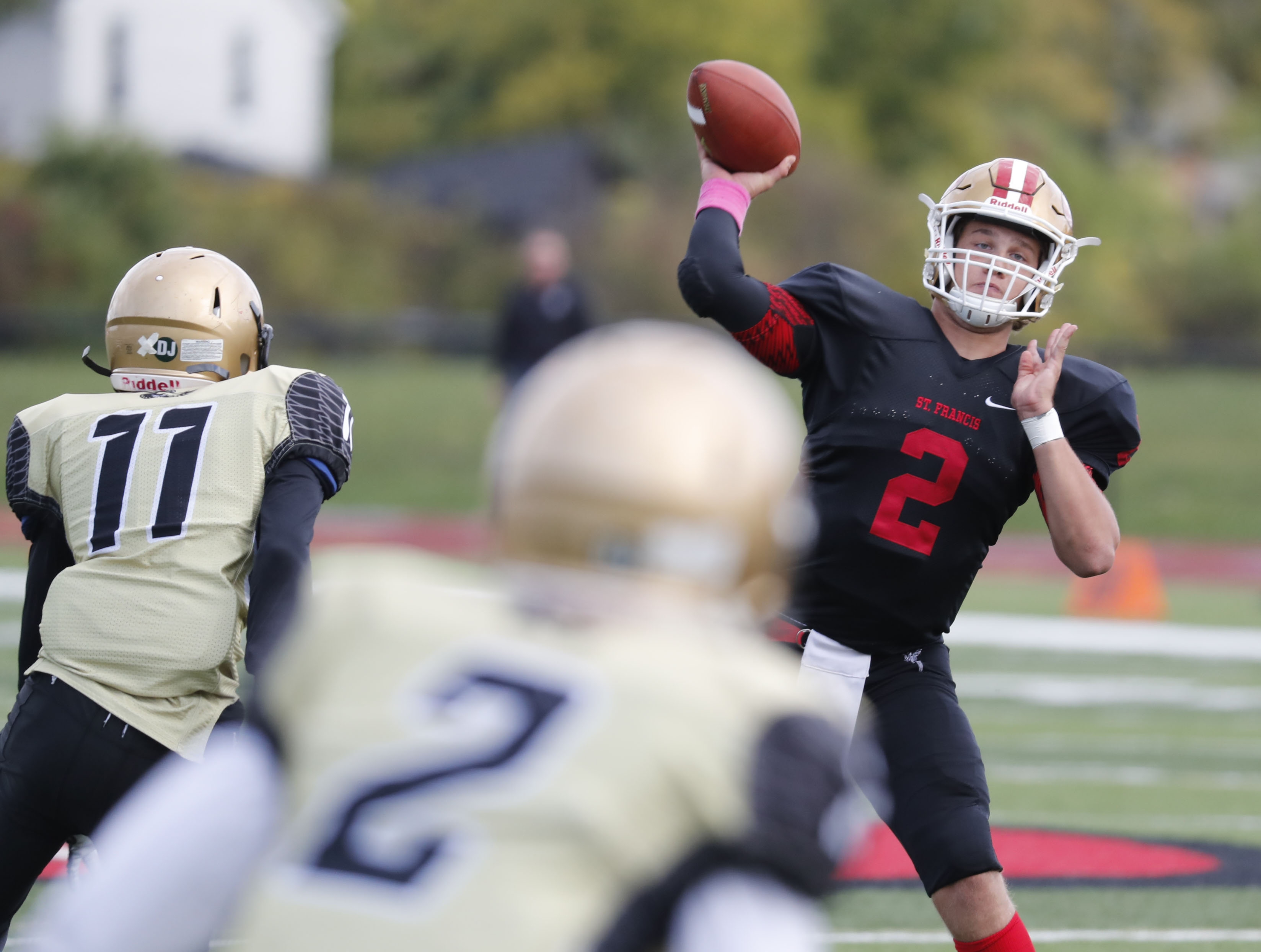 St. Francis quarterback Jerry Hickson became WNY's career passing leader during Saturday's victory over O'Hara.