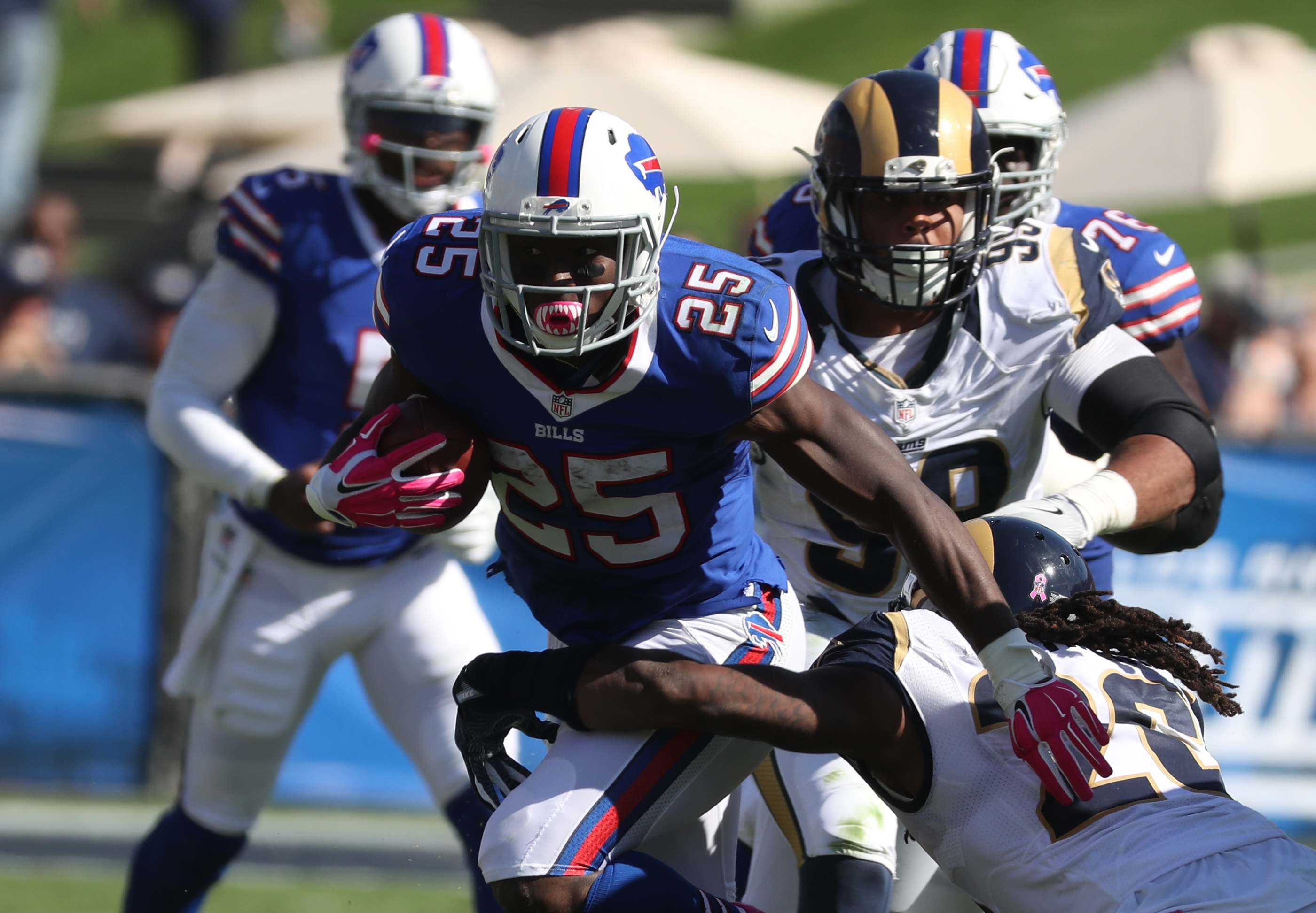 LeSean's McCoy's 150 yards on the ground carried the Bills' offense. (James P. McCoy/ Buffalo News)
