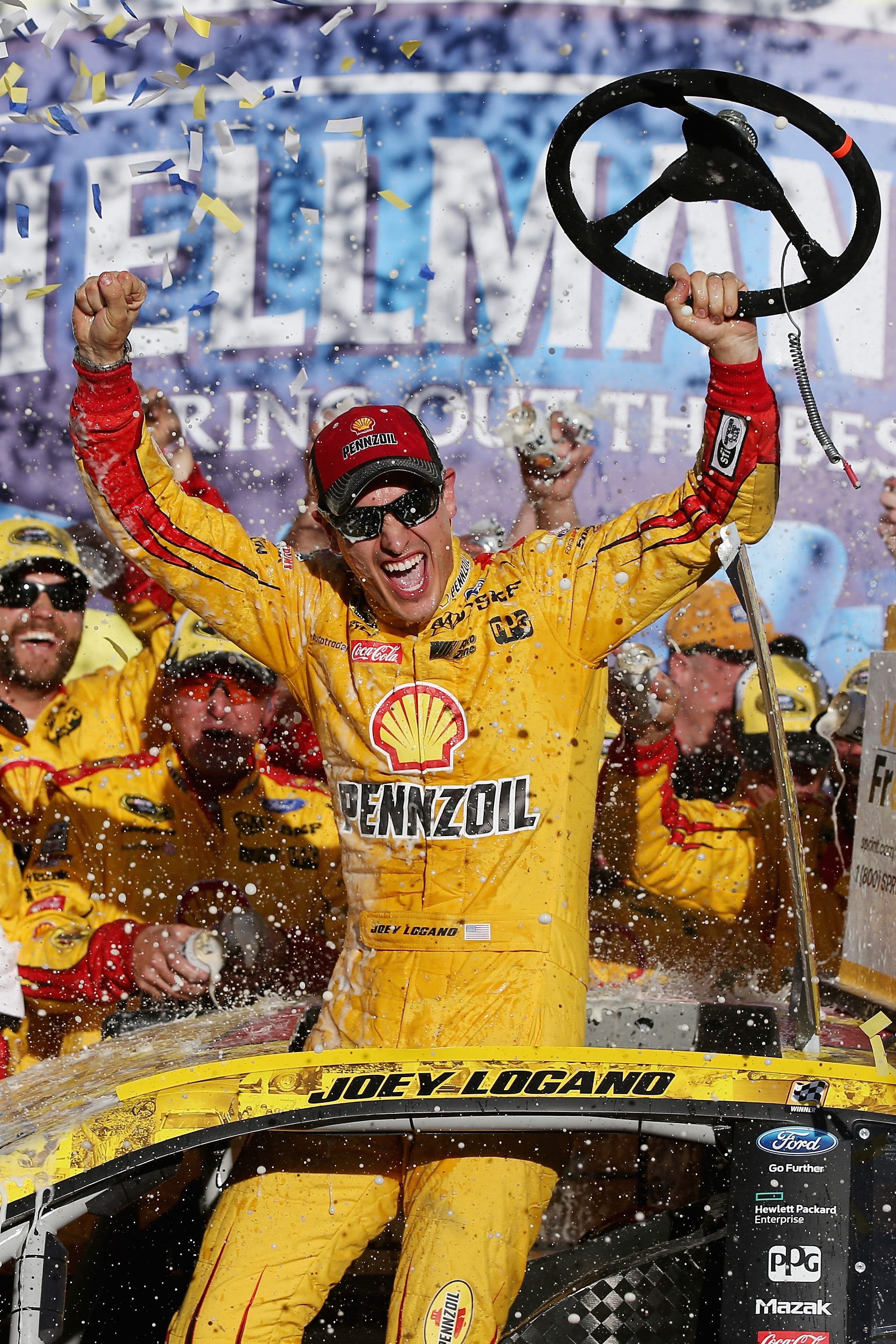 Joey Logano didn't have to worry about advancing in the Chase by winning at Talladega.