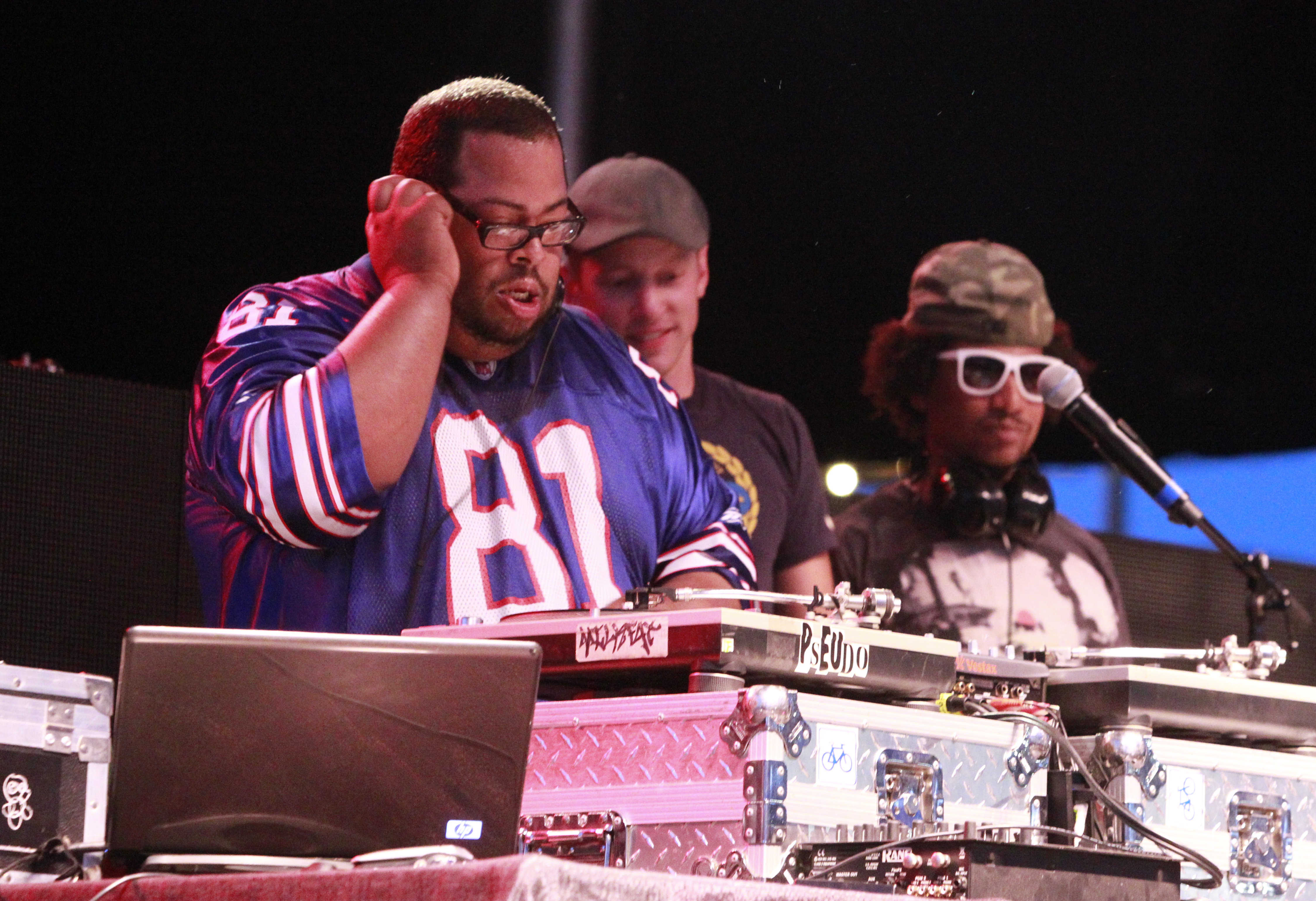 DJ Optimus Prime, left, is one of the performers at Friday's fundraiser. (John Hickey/Buffalo News file photo)