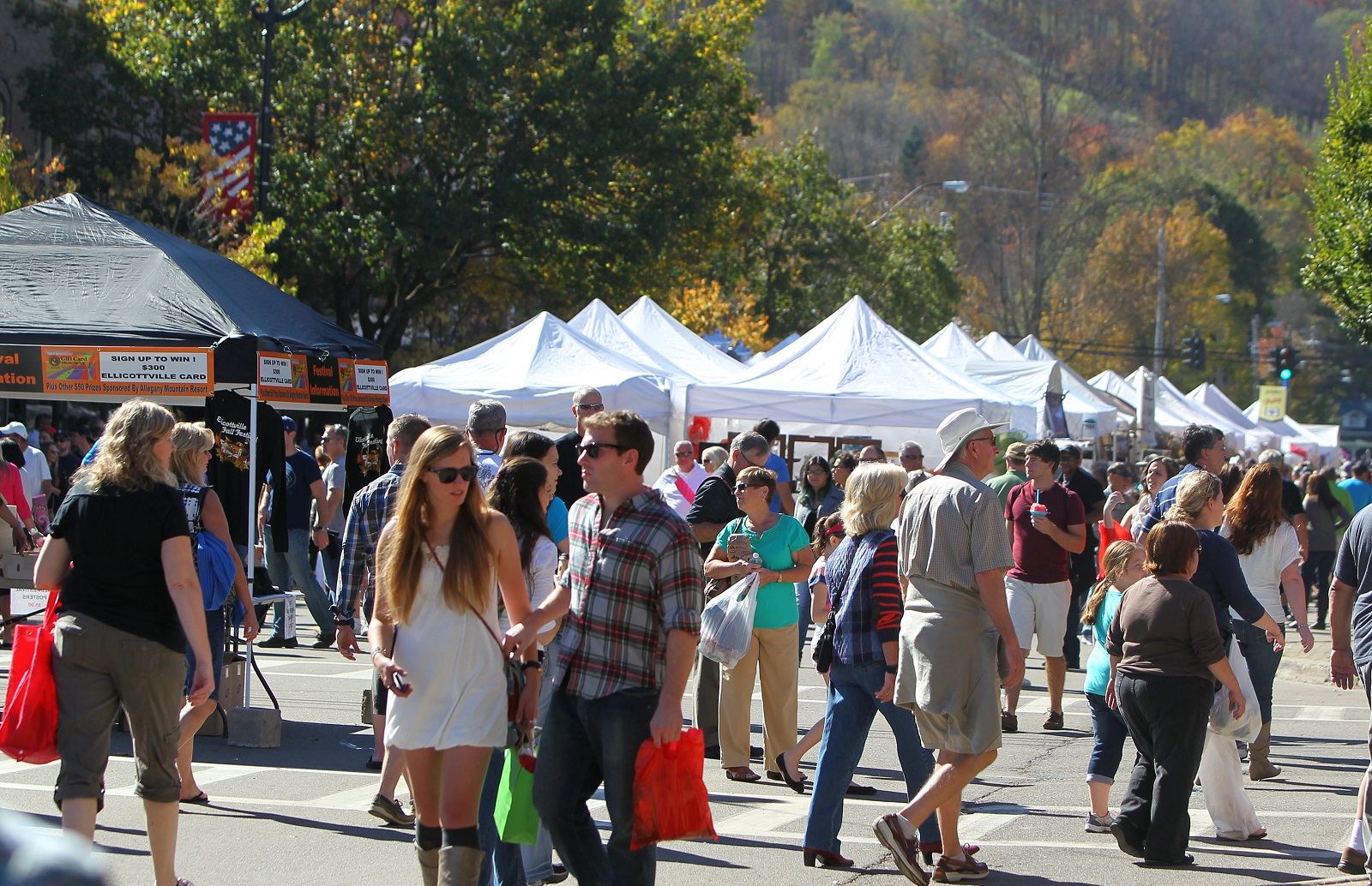 Ellicottville will hold its popular fall festival on Columbus Day weekend. (Mark Mulville/Buffalo News file photo)