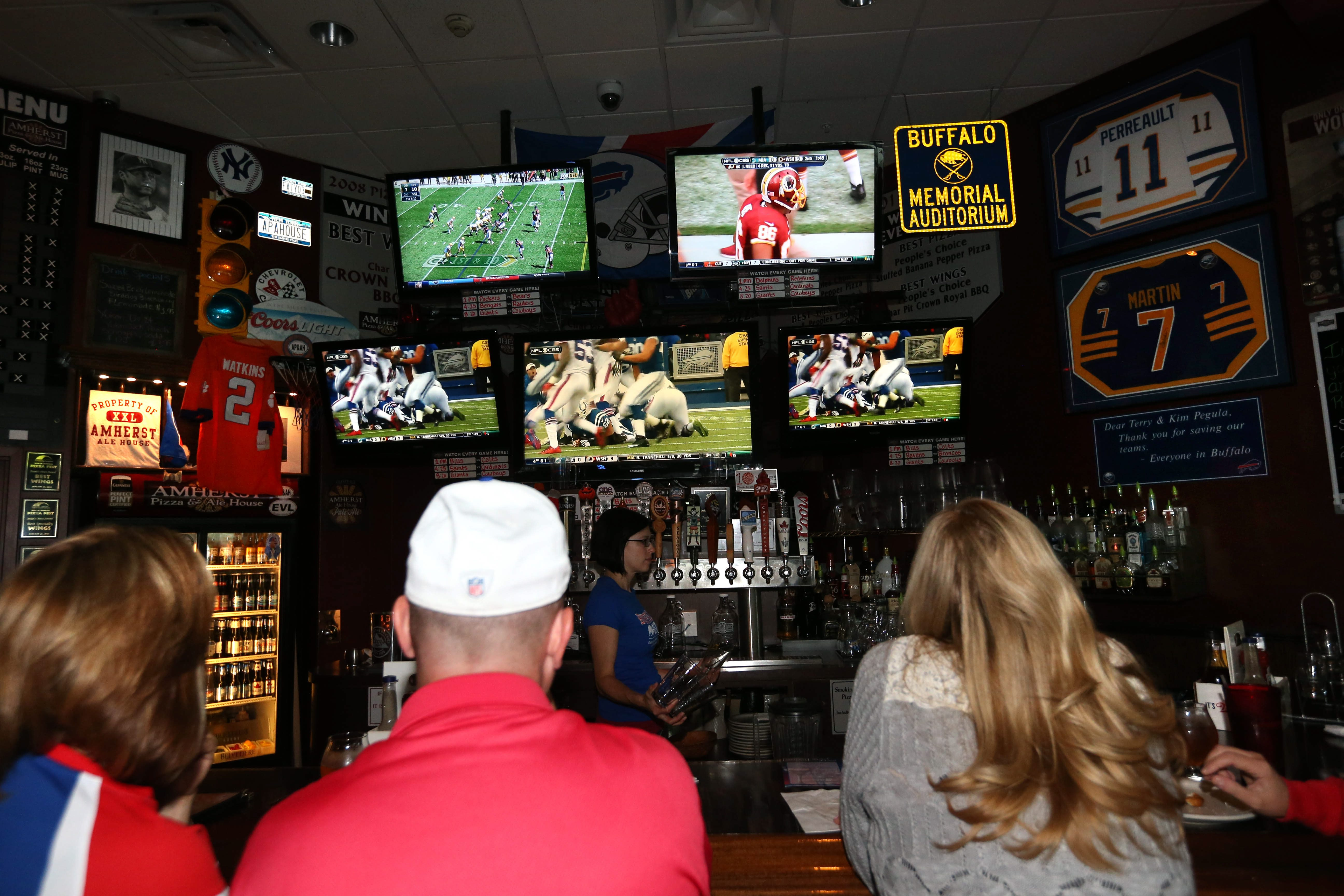 Amherst Pizza & Ale House at 55 Crosspoint in Getzville is a popular spot to watch the Bills game.     (Sharon Cantillon/Buffalo News file photo)