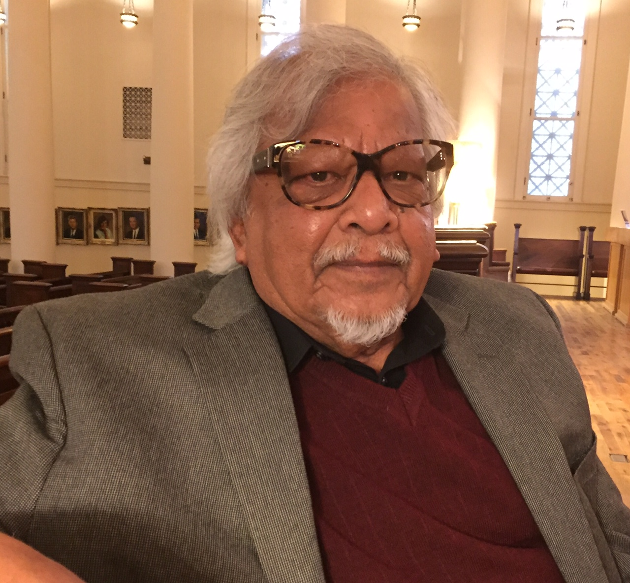 "Arun Gandhi, grandson of Mohandas K. Gandhi, sees himself as a ""peace farmer."" (Barbara O'Brien/Buffalo News)"