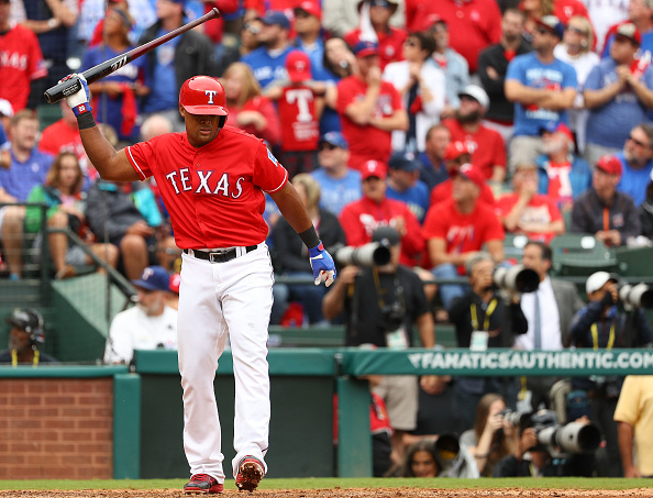 Adrian Beltre and the Rangers have been frustrated at the plate in the first two games by Blue Jays pitching (Getty Images).