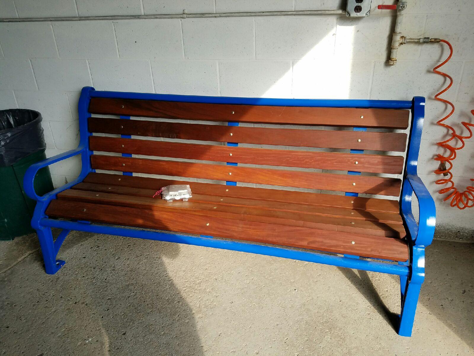 Bench donated for James Metz. (Courtesy of Steve Metz)