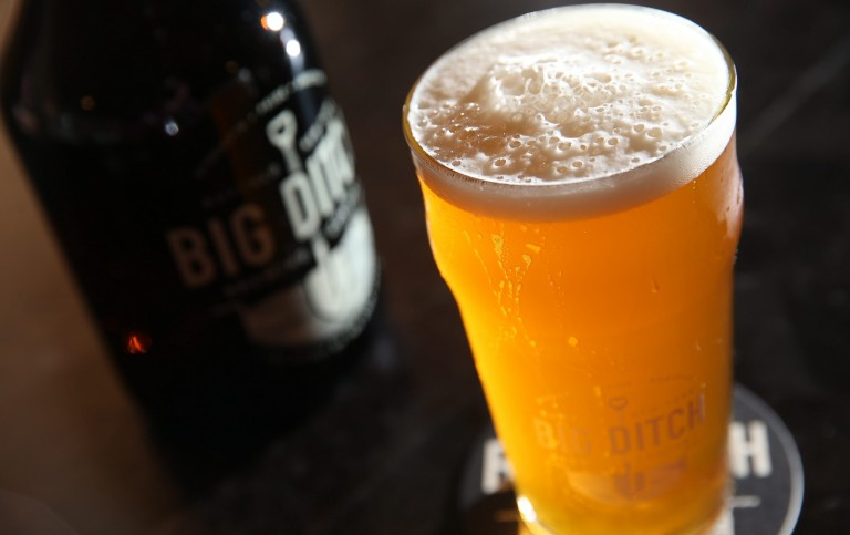 Big Ditch Brewing's Low Bridge hoppy ale, one of the brewery's flagship beers. (Sharon Cantillon/Buffalo News file photo)