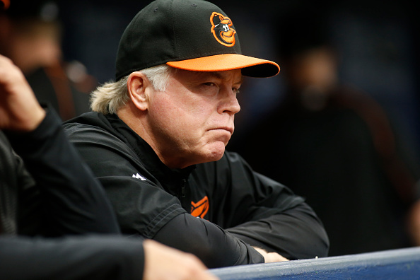 Buck Showalter will spend the winter trying to explain how Zach Britton didn't pitch Tuesday in Toronto (Getty Images).