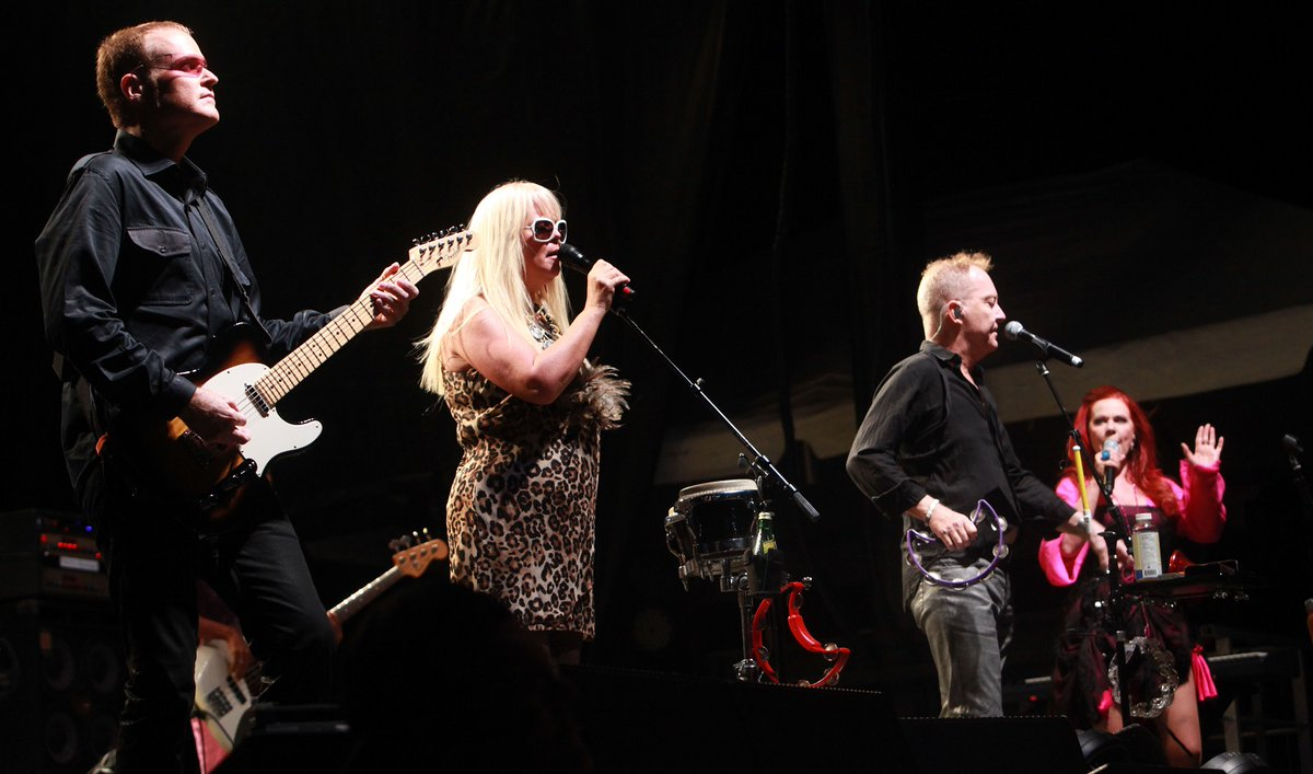 The B-52s in concert in 2011 in Lockport. (Sharon Cantillon/Buffalo News)