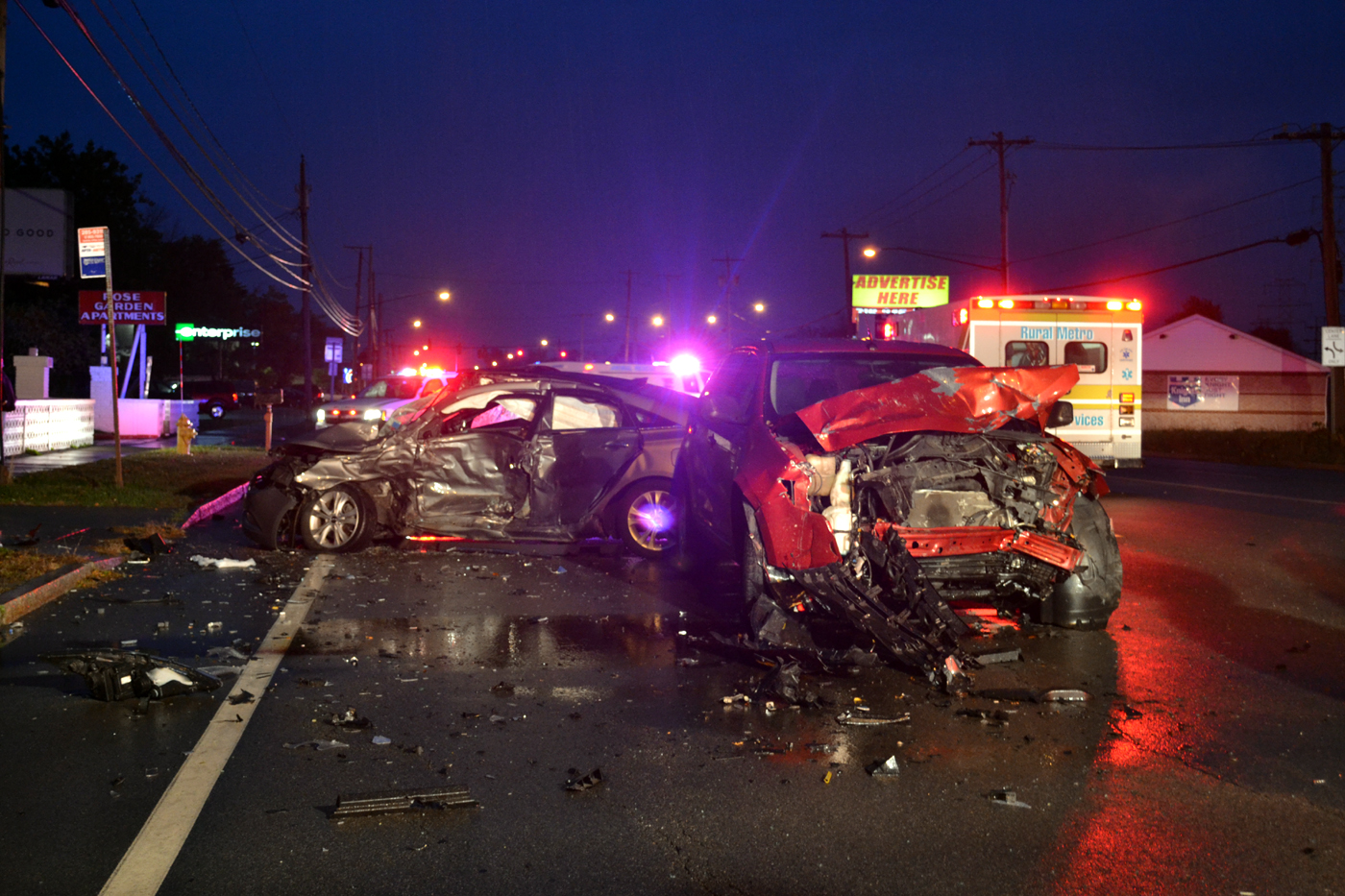 The scene of a fatal crash in Niagara Falls. (Larry Kensinger/contributor)
