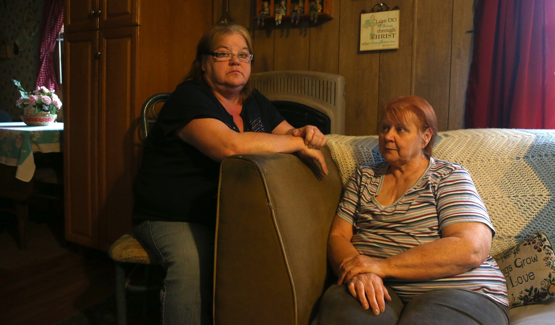 Debra Trammell, left, of Newfane and her stepmother Patricia Lord contracted Legionnaires' disease this summer. The two survived and were photographed at Lord's home in Middleport, N.Y. on Thursday Oct. 27, 2016. Richard Jepson of Lockport, Lord's ex-husband and Trammell's father, died July 22, 2016 from Legionnaires' disease. (John Hickey/Buffalo News)