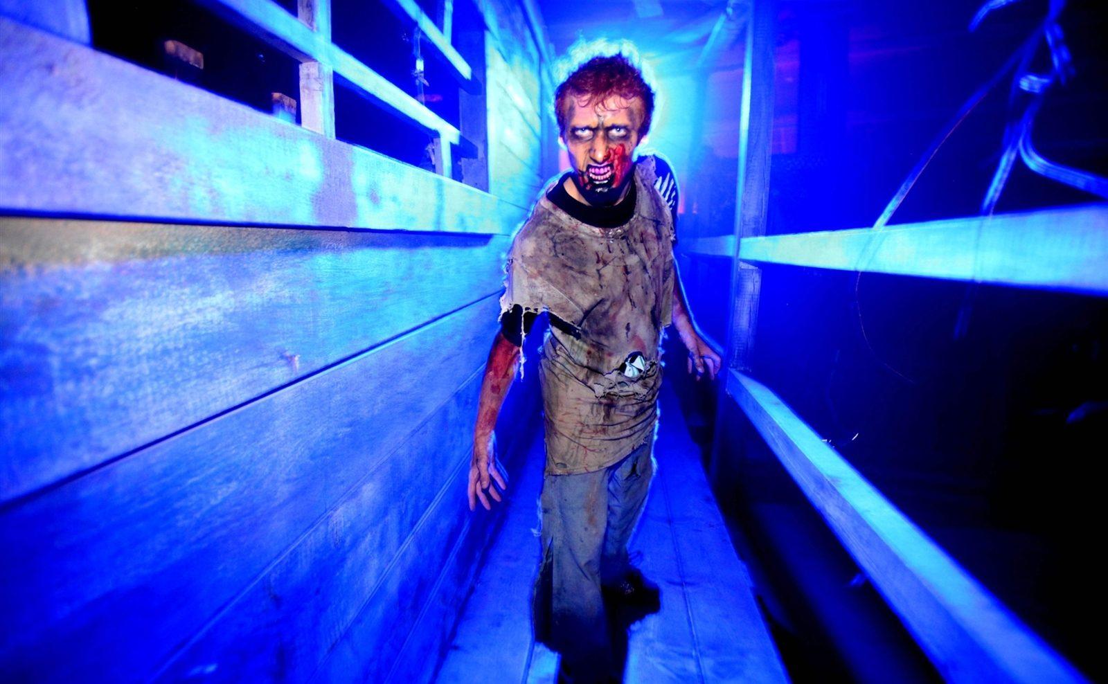 Actor Brandon Durshordwe at Frightworld in Tonawanda. (Robert Kirkham/Buffalo News)