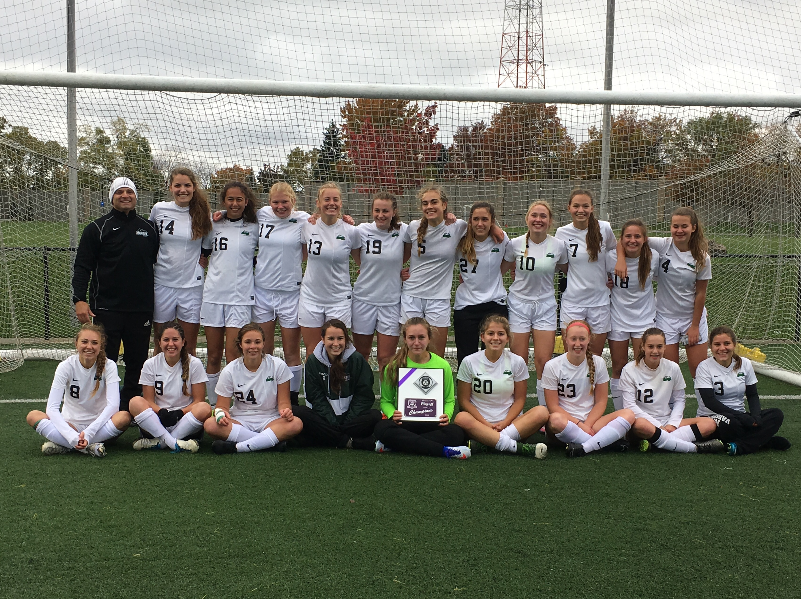 The Nardin girls soccer team won their first Monsignor Martin title since 2013 on Sunday afternoon at Niagara Univeristy.