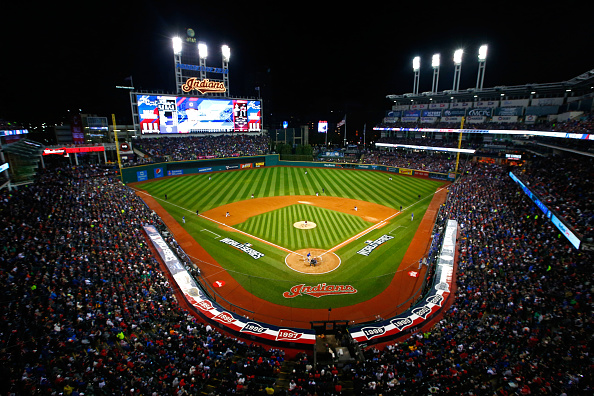 The scene at Progressive Field for Game Two of the World Series (Getty Images).