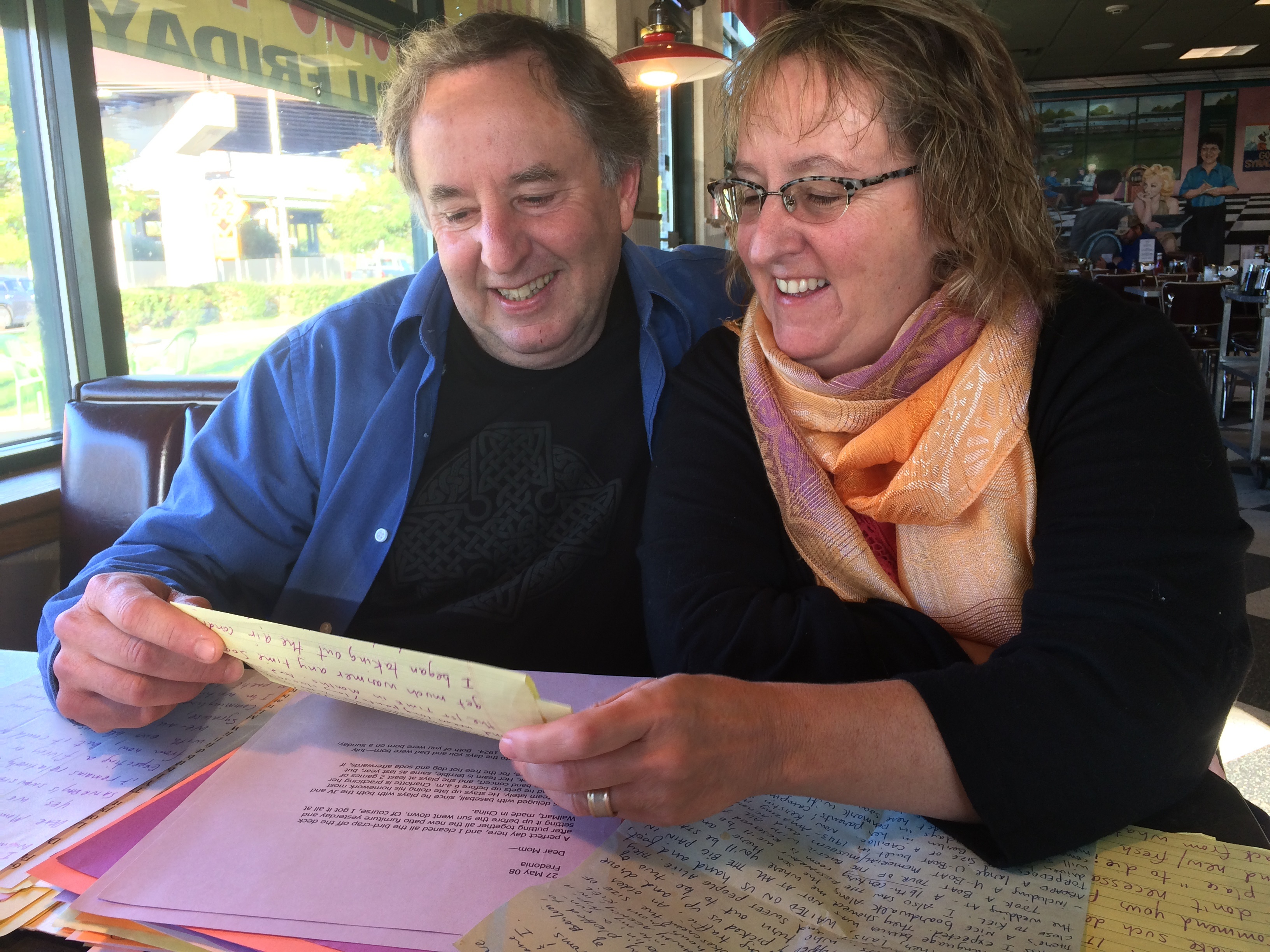 Gerry Crinnin with his sister Kathleen: An entire family, over the years, that traces time through Gerry's letters. (Sean Kirst/submitted image)