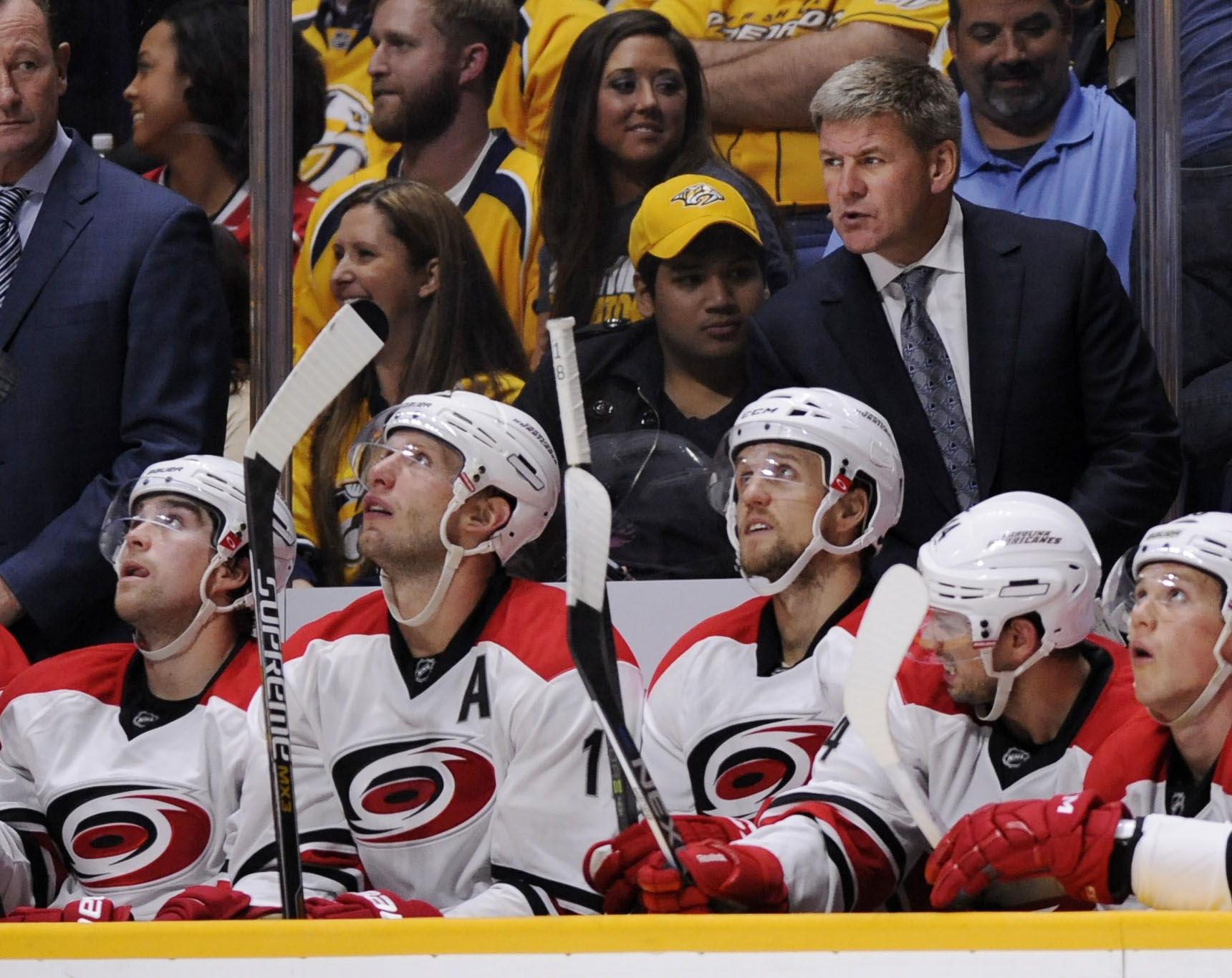 Count Carolina coach Bill Peters among the leading candidates for the Jack Adams Trophy.