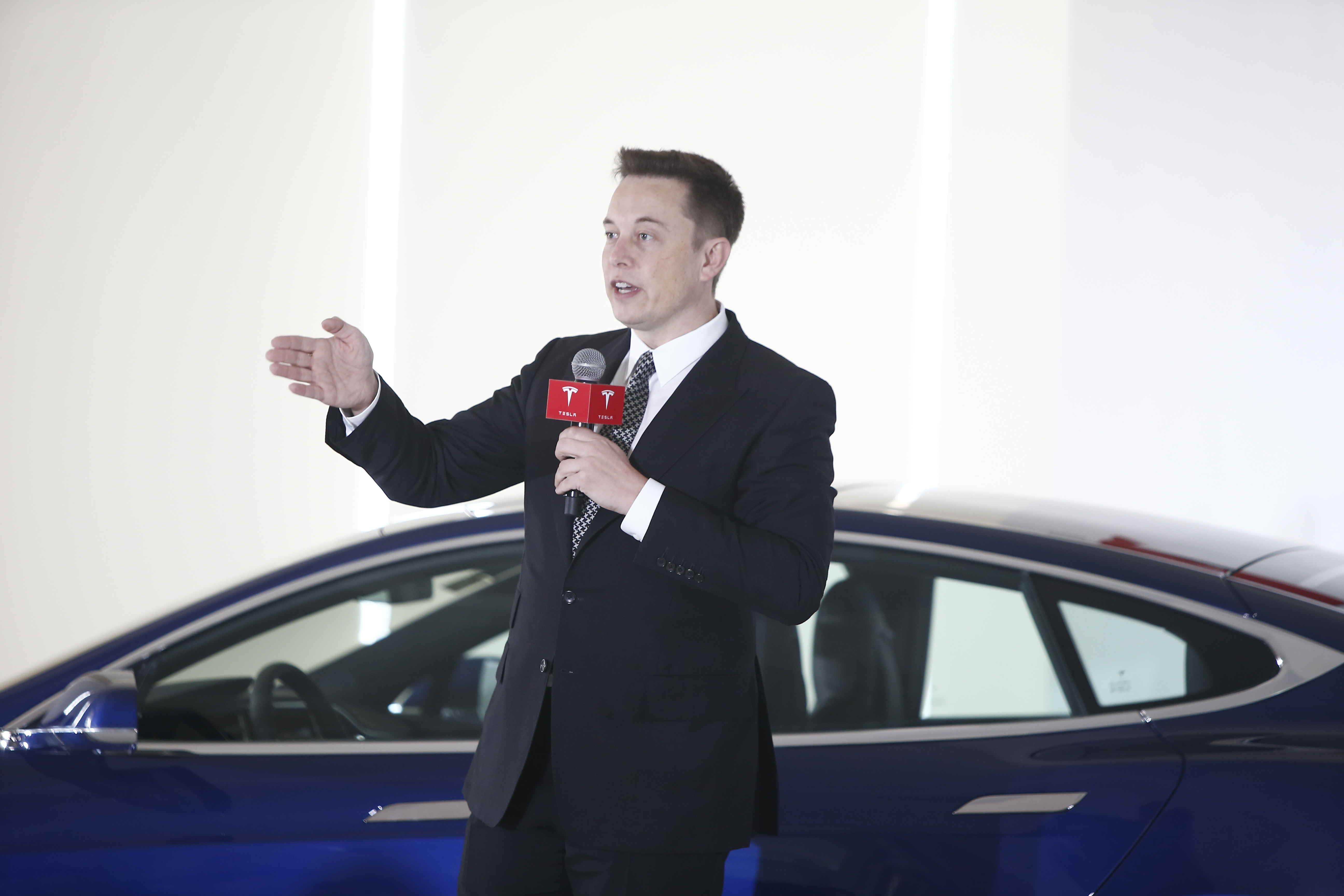 'It's very exciting,' said Elon Musk, chairman, CEO and product Architect of Tesla Motors, during a conference call Wednesday evening. 'Definitely one of the best moments ever for Tesla.'  (Photo by VCG/VCG via Getty Images)