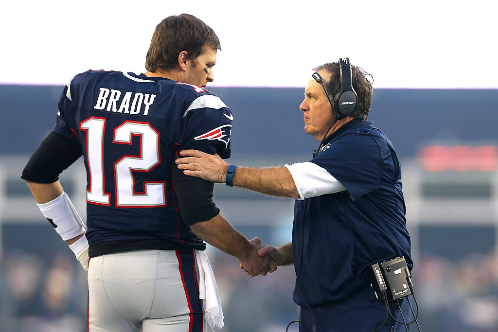 Tom Brady says he won't be following in Bill Belichick's footsteps. (Getty Images)