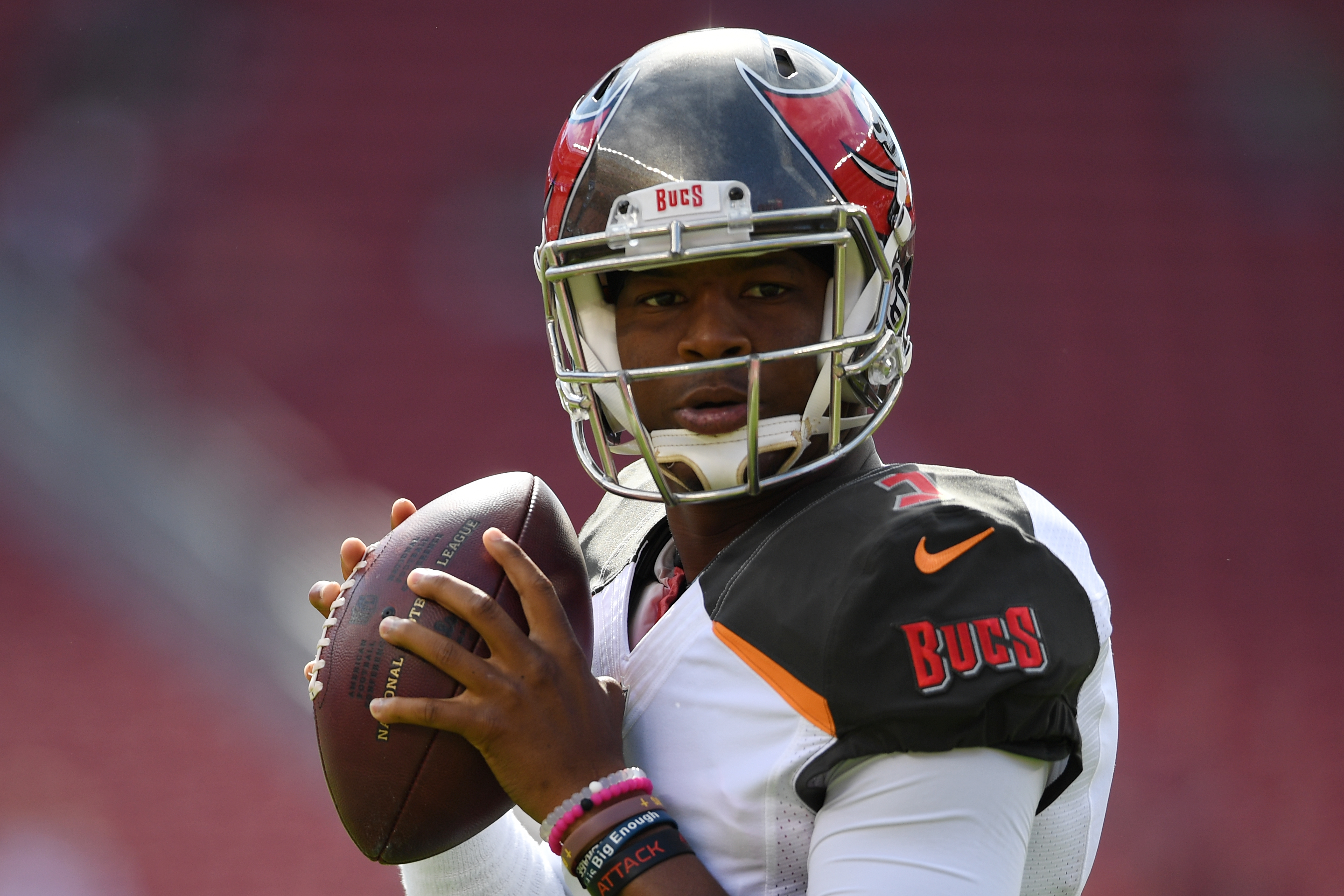 Jameis Winston is a good option this week -- because he's playing against a poor Oakland pass defense. (Getty Images)