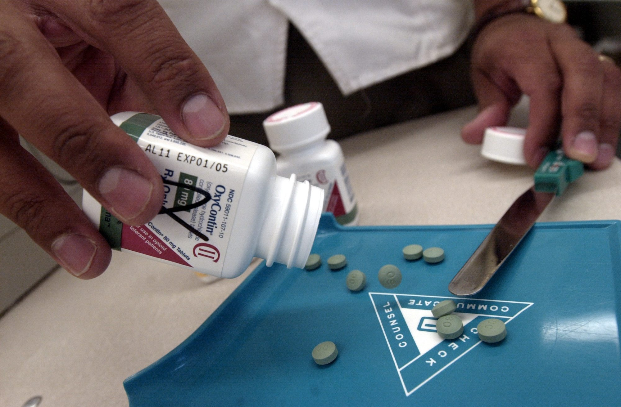 The prescription medicine OxyContin is a powerful painkiller. It's manufactured to relieve the pain of seriously ill people, but it is often used by some addicts to achieve a high similar to a heroin rush. (Getty Images)