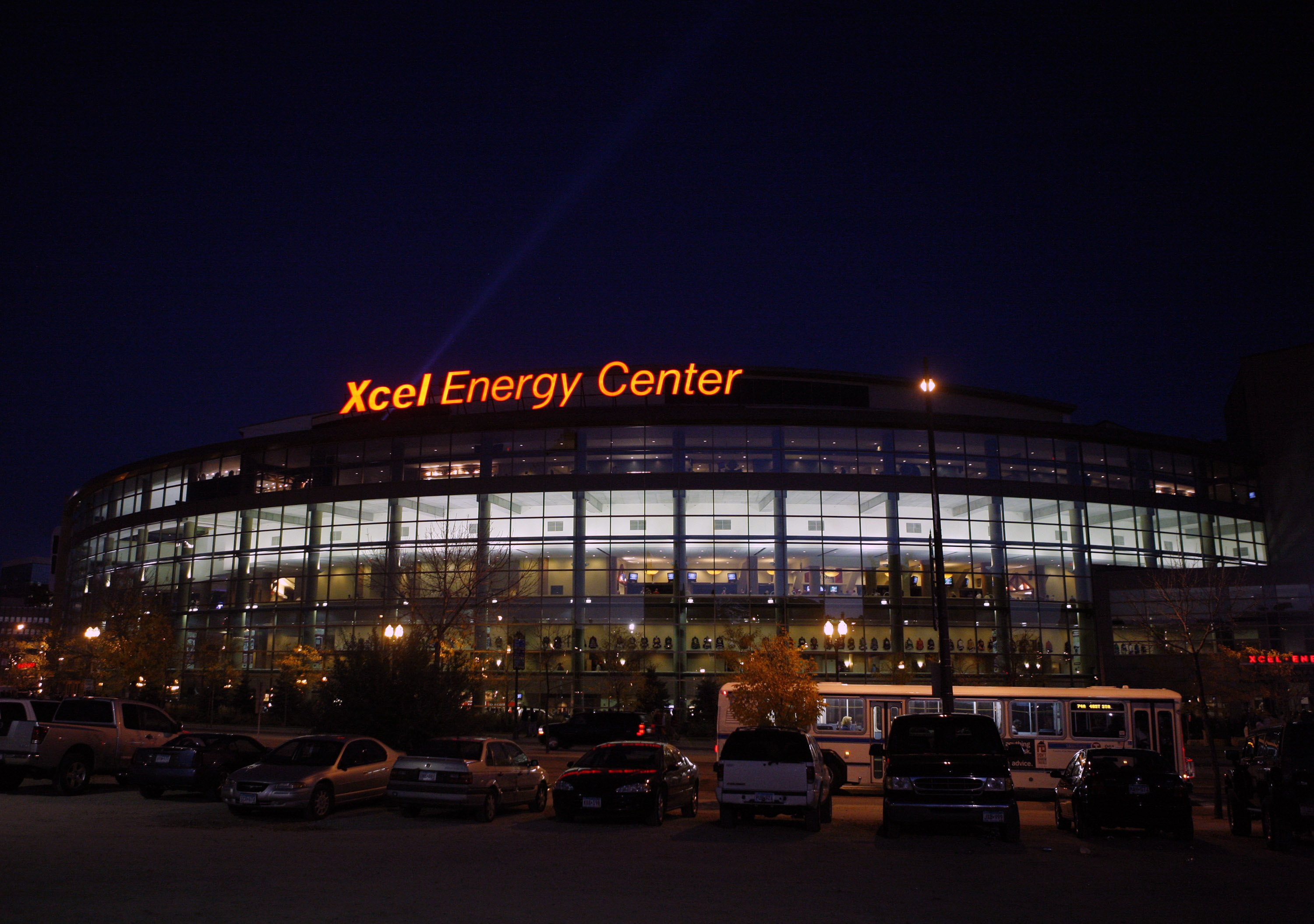 Minnesota's Xcel Energy Center is one of several NHL stops with cool features to check out. (Getty Images)
