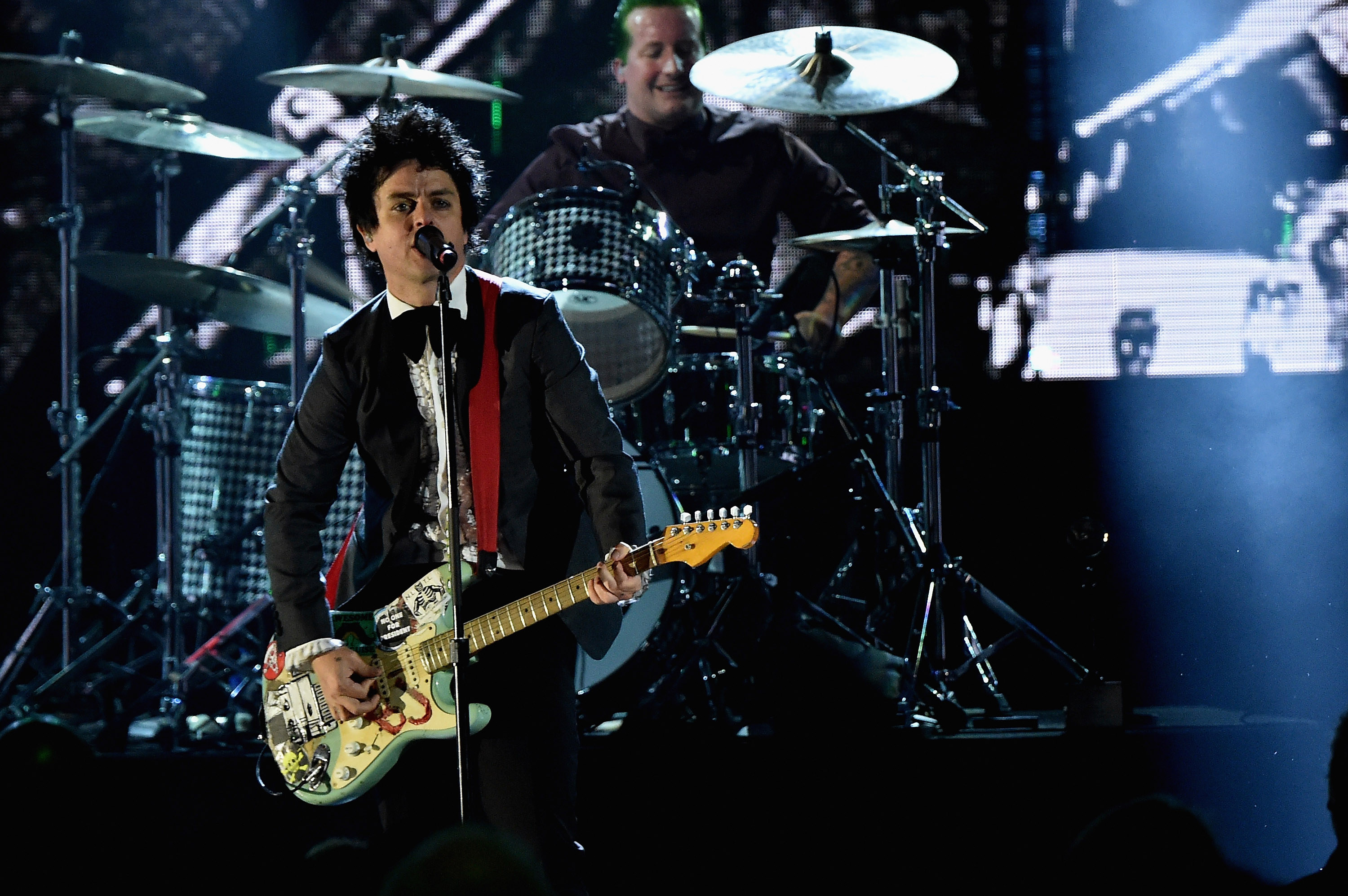 Green Day performs on stage during the 30th Annual Rock And Roll Hall Of Fame Induction Ceremony in 2015 in Cleveland. (Mike Coppola/Getty Images)