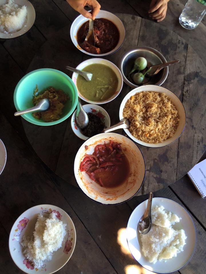 The feast that locals in Kwee Ler Shu, Burma, prepared for Buffalo News reporter Jerry Zremski.