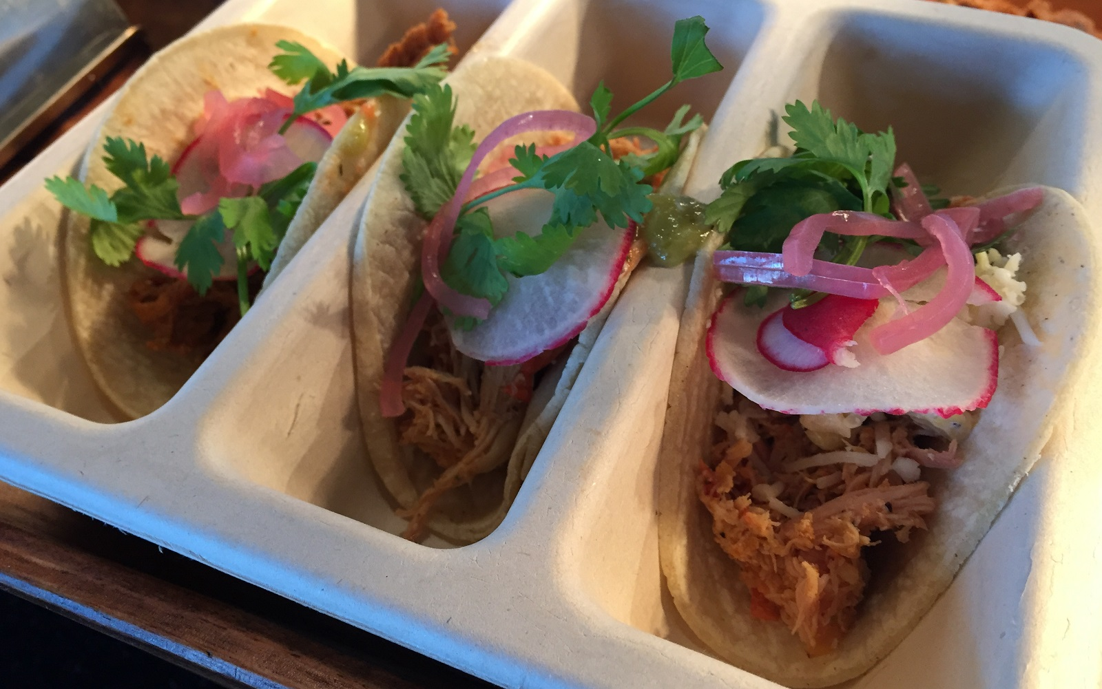 A trio of street tacos is also on the newcomers list. (Aaron Besecker/Buffalo News)