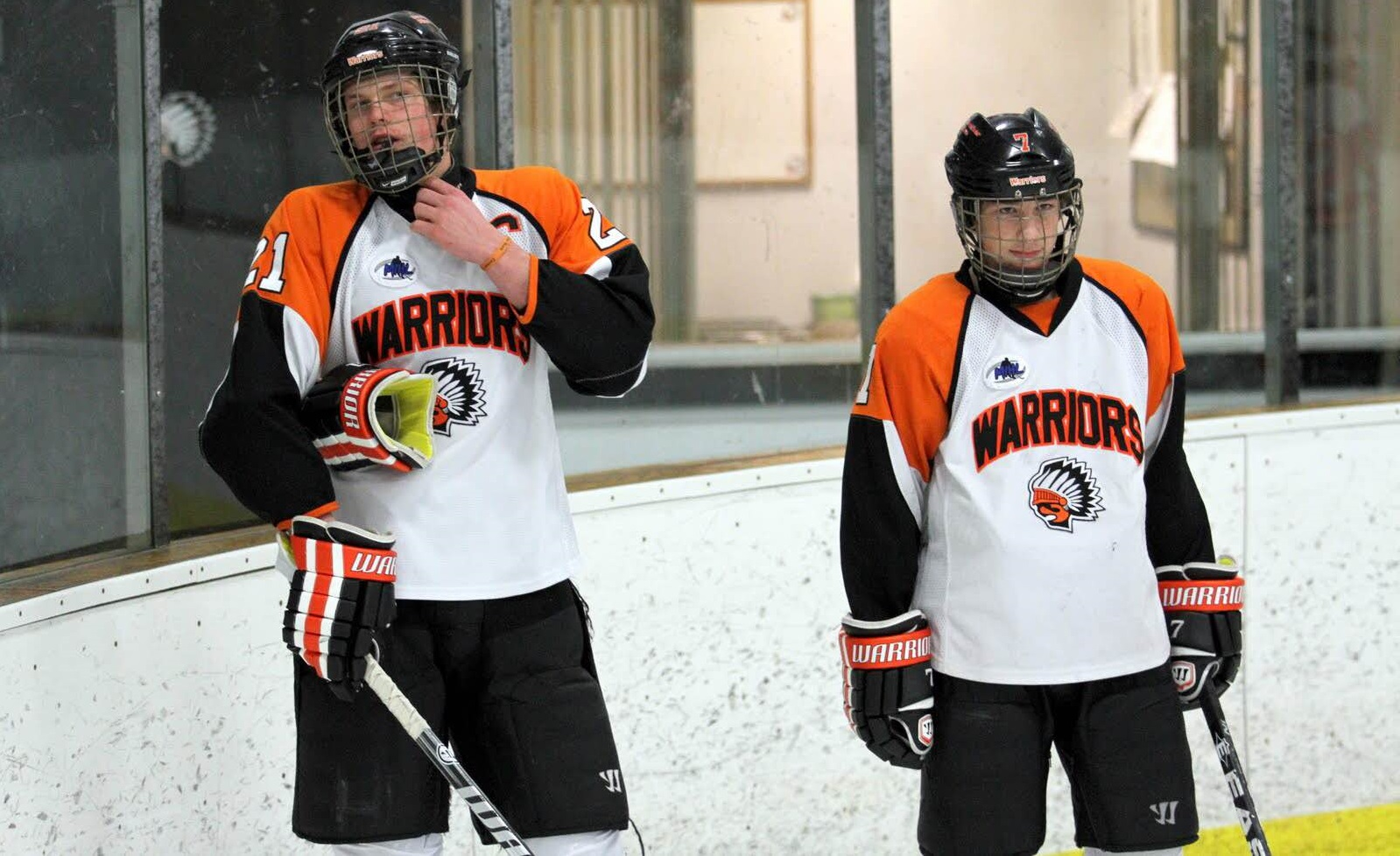 As a high school hockey player, Russell Cicerone, right, was much smaller than average. (via Cicerones)